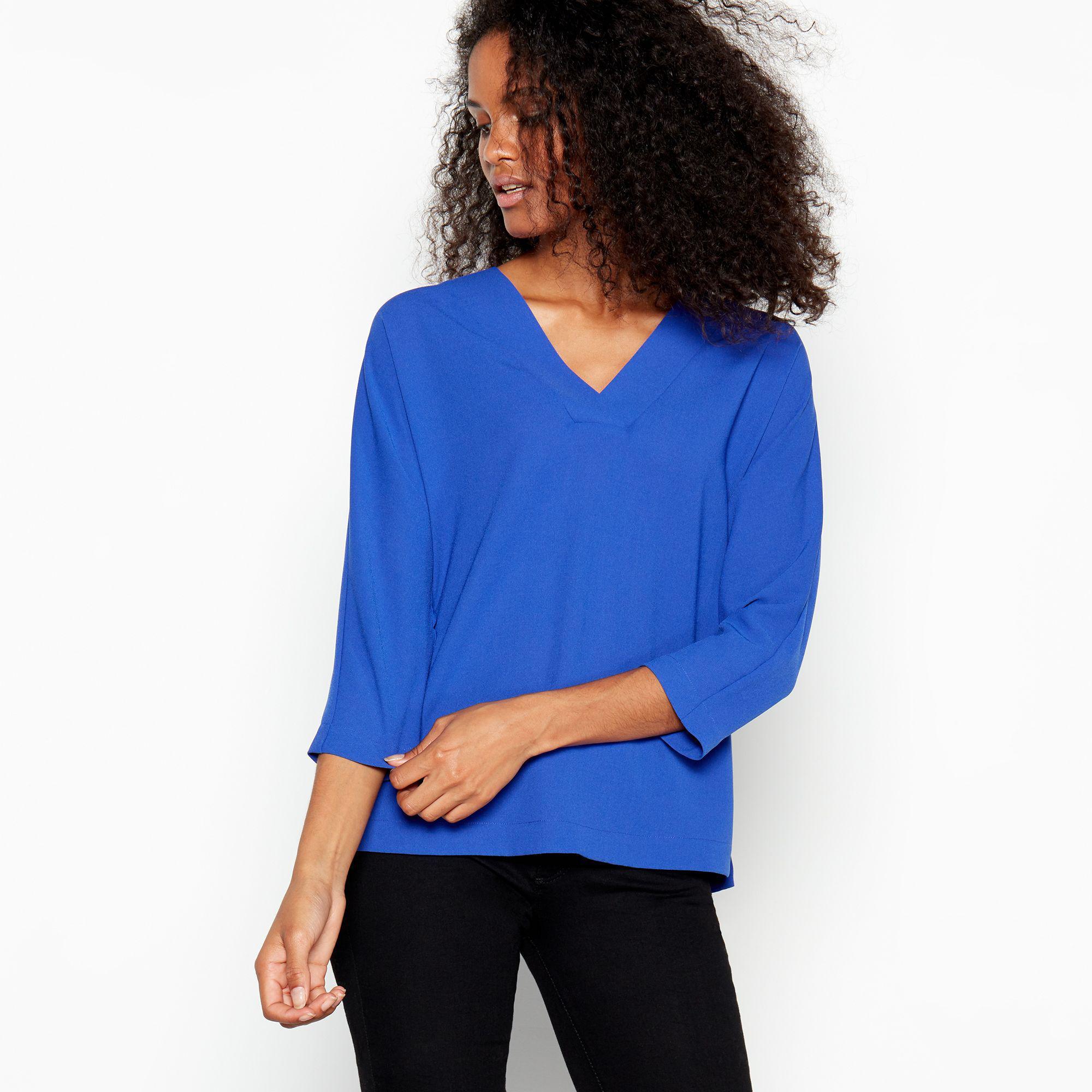 b267ba288125d J By Jasper Conran Blue V-neck Top in Blue - Lyst