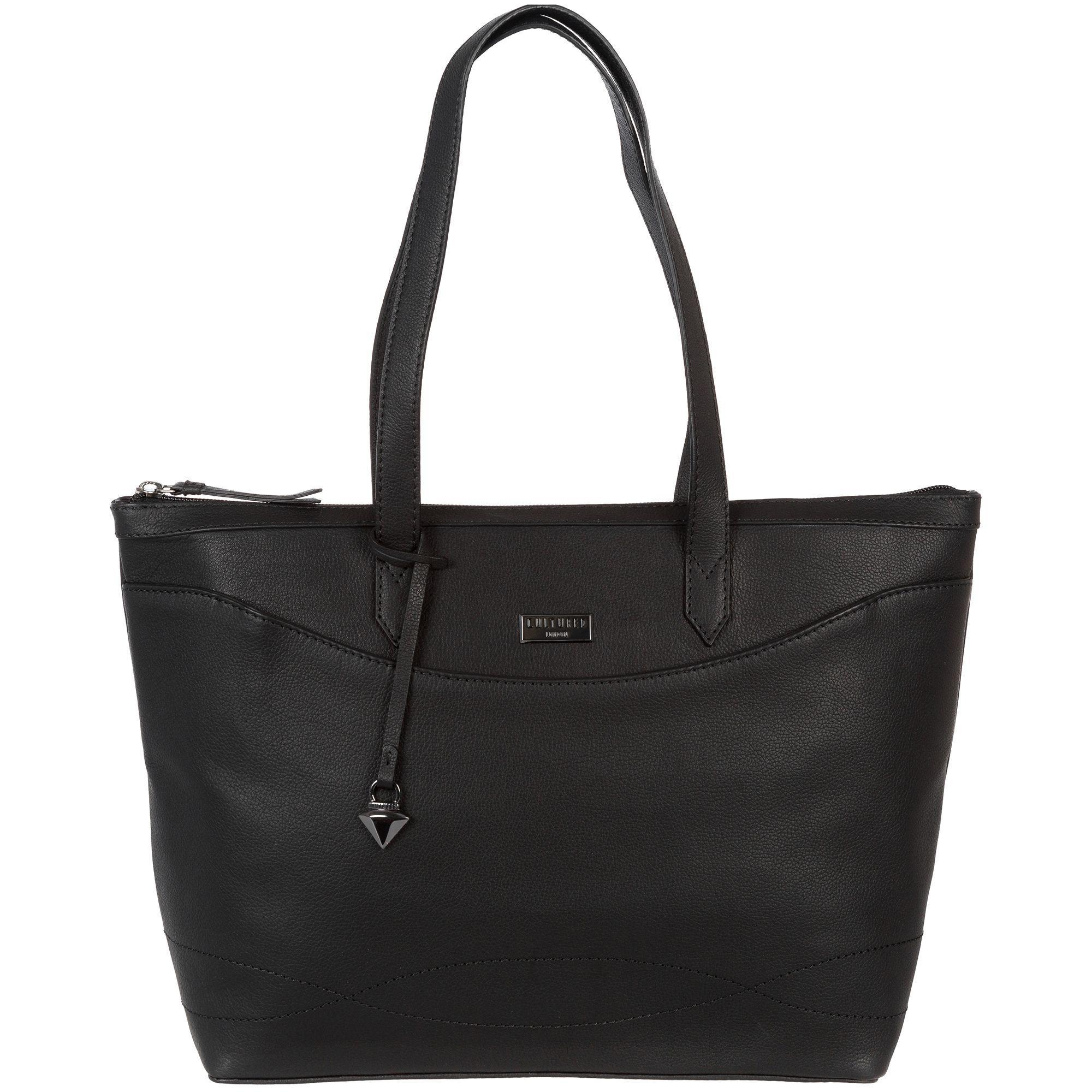 a41c7eb2a999 Cultured London Black  oriel  Leather Tote Bag in Black - Lyst