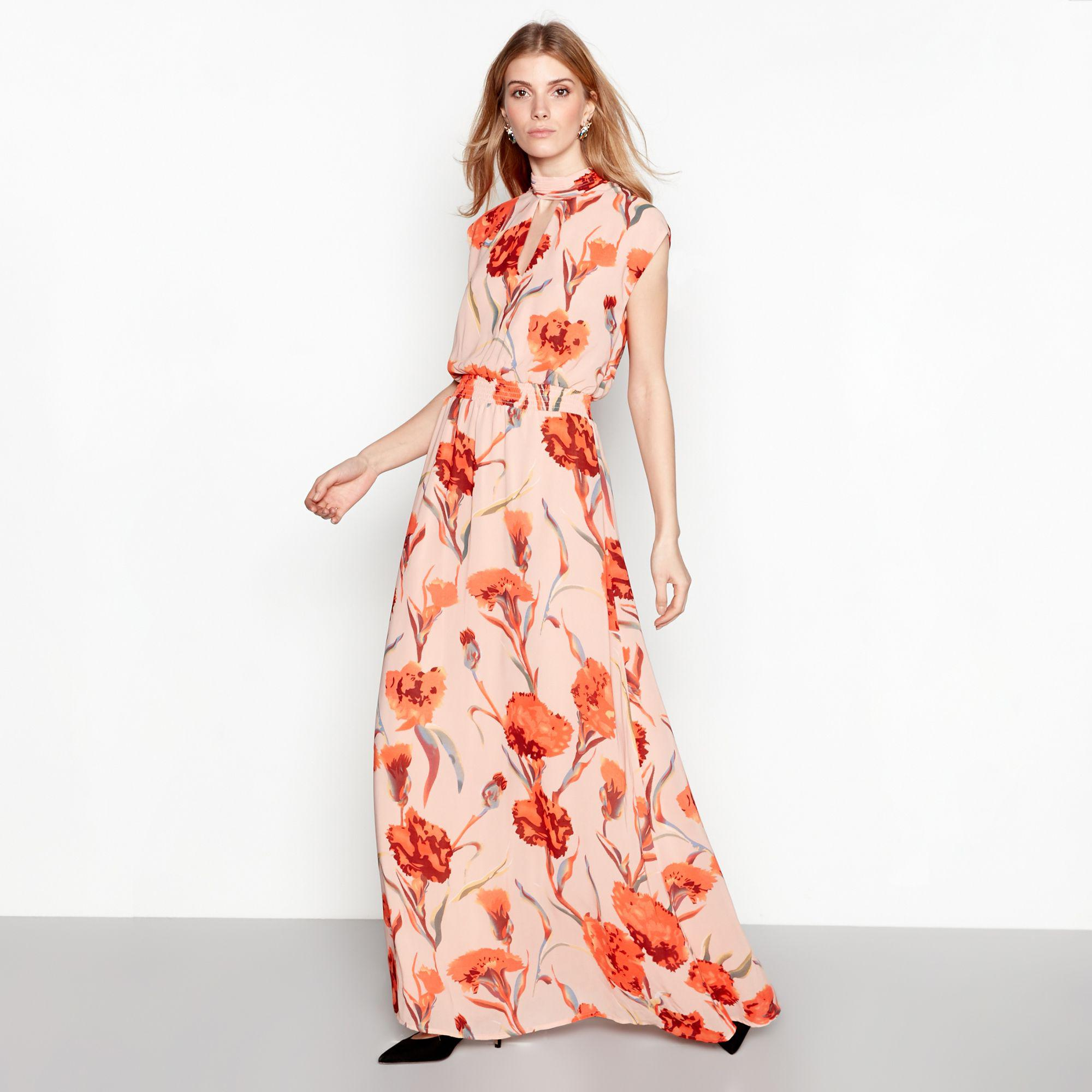 ad58dcef371d5 Y.A.S Rose Floral Print Sleeveless High Neck Maxi Dress in Pink - Lyst