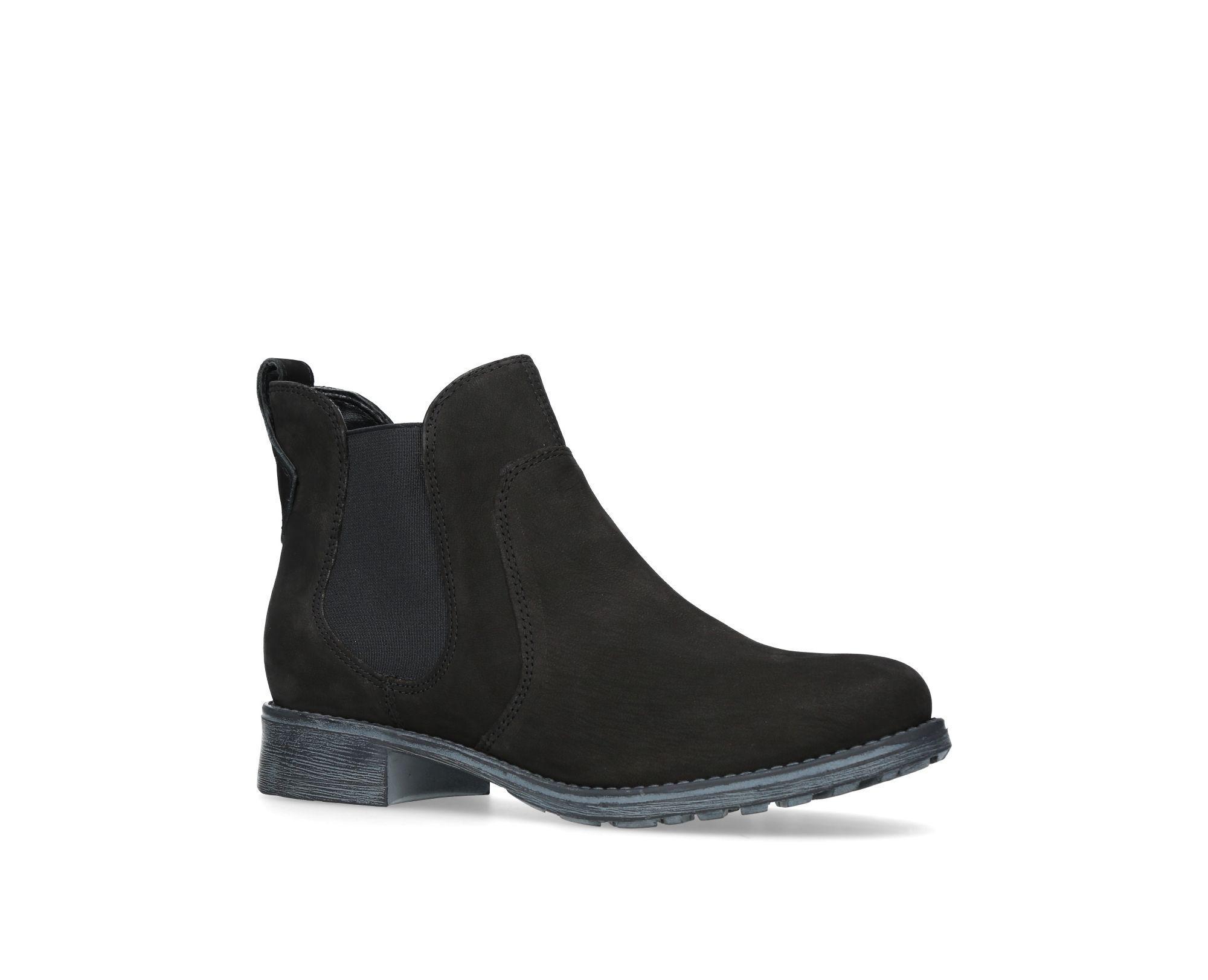 Carvela Kurt Geiger. Women's Black Solid Flat Ankle Boots