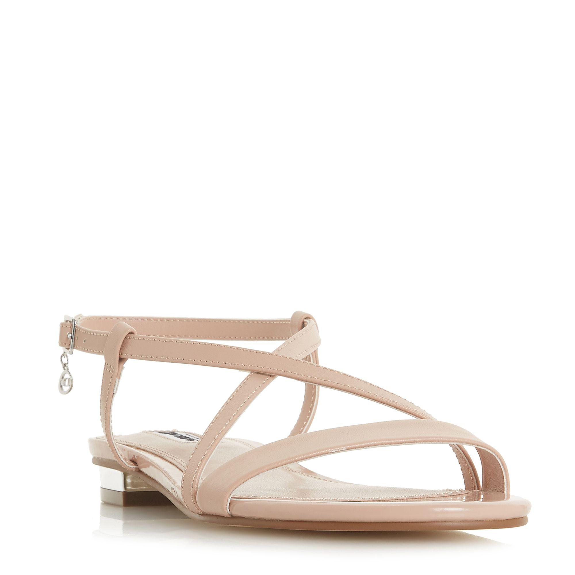81cb41f9a9e1 Dune Natural  nenna  Block Heel T-bar Sandals in Natural - Save 31 ...