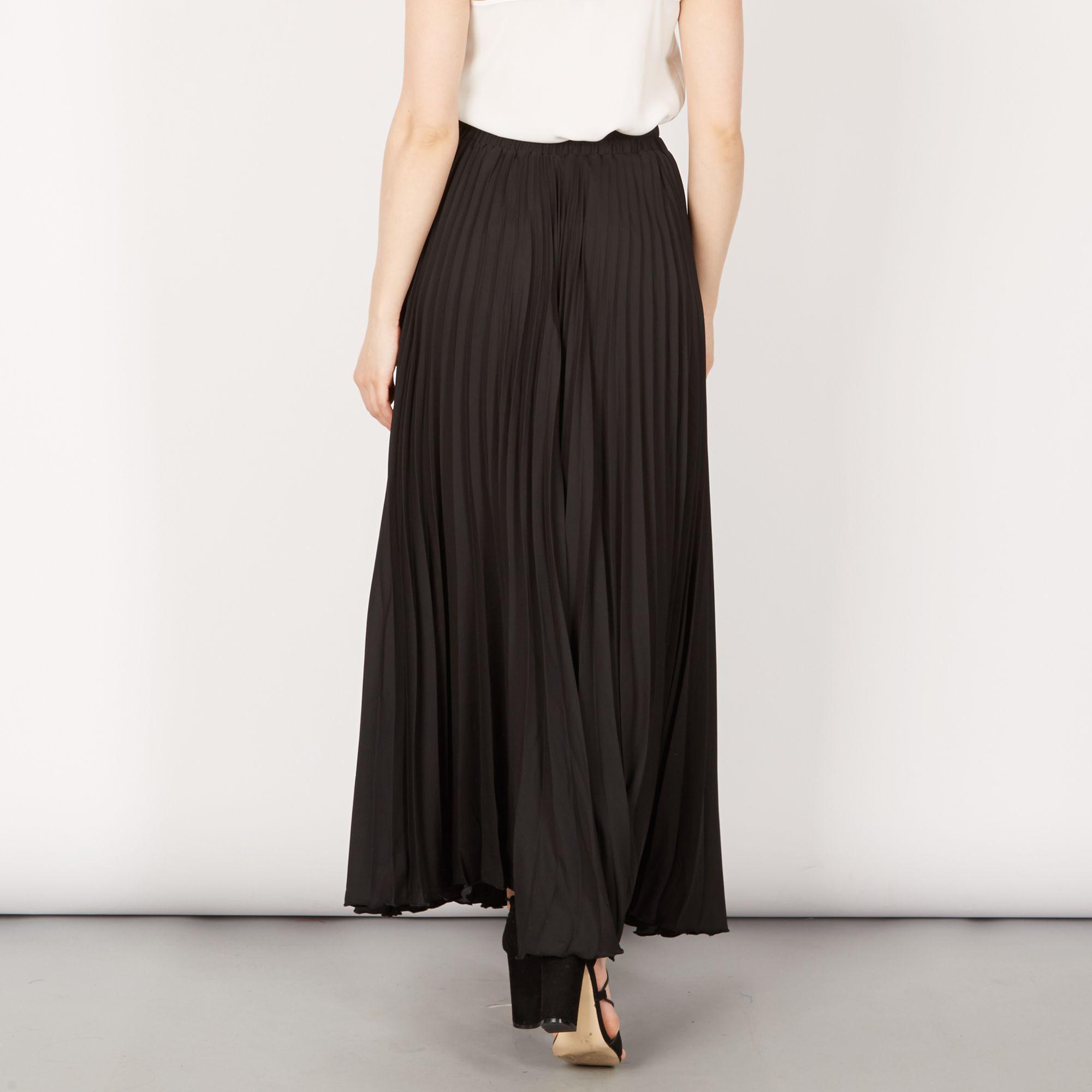 51cf2c364a Jolie Moi - Black Pleated Maxi Skirt - Lyst. View fullscreen