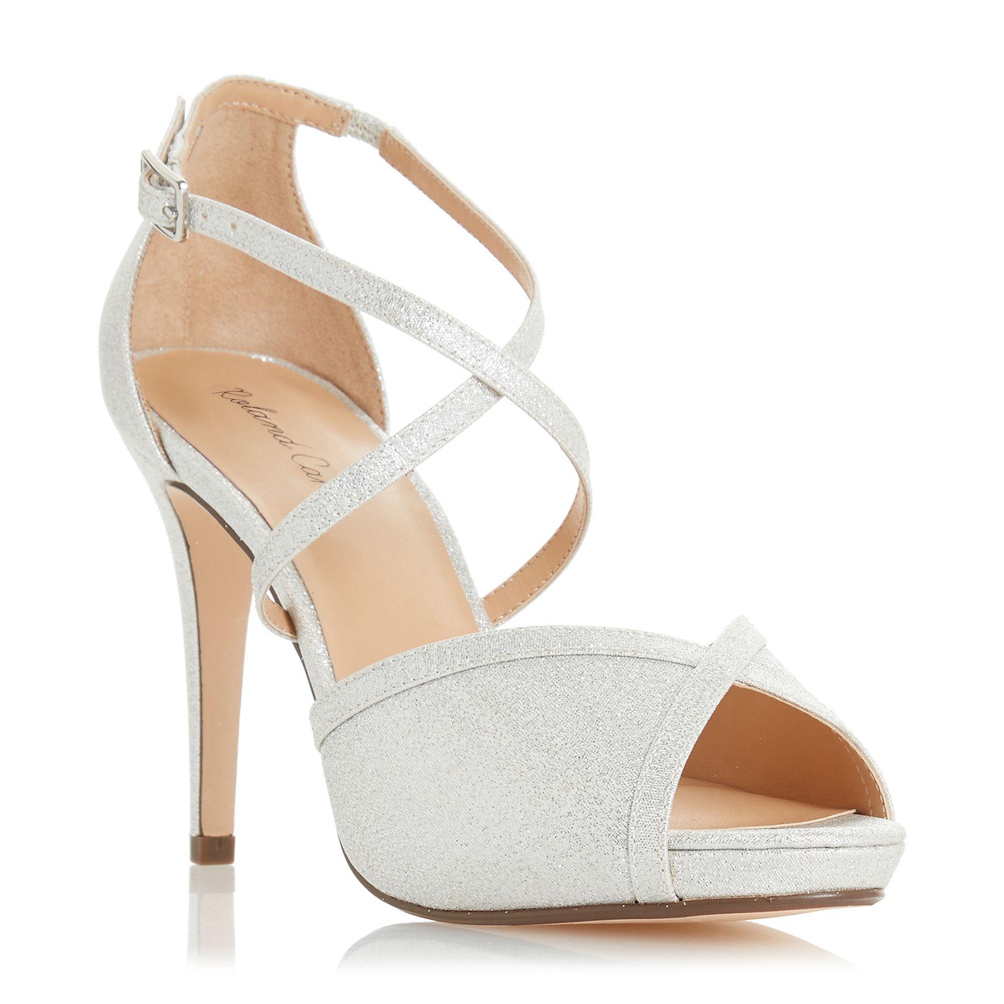 70fe4b184c46 Roland Cartier. Women s Metallic Silver  minnie  High Stiletto Heel ...