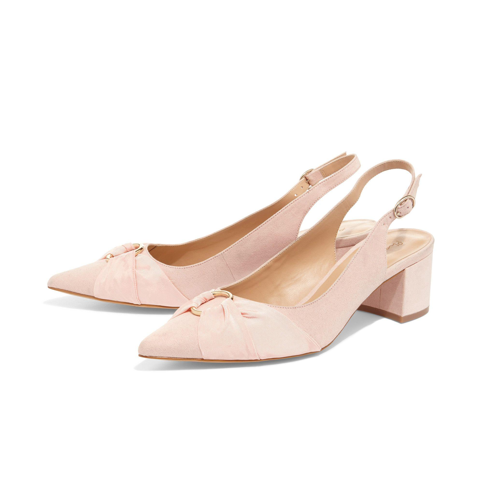 f89eb6e9234 Phase Eight Pink Giselle Block Heel Court Shoes in Pink - Lyst