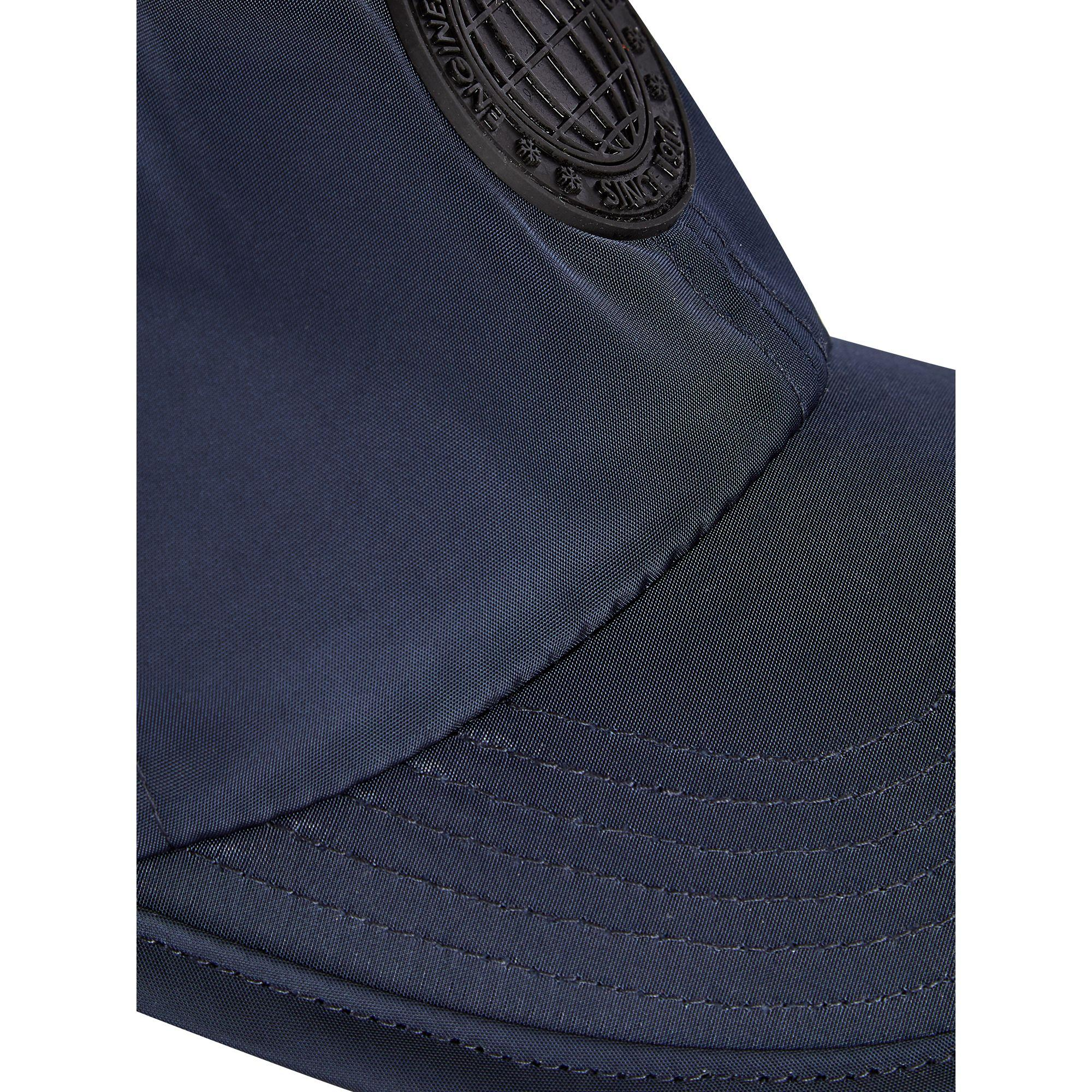 e71686db ... Blue Nylon Badge Cap for Men - Lyst. View fullscreen