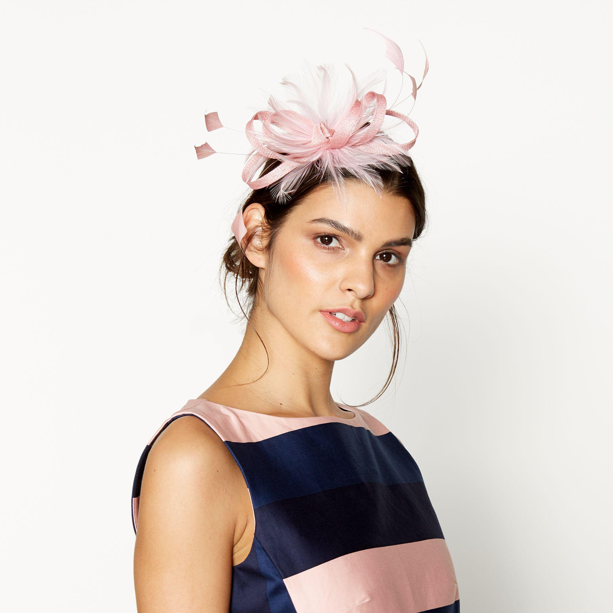 J By Jasper Conran Pink Feather Fascinator in Pink - Lyst f1476498156