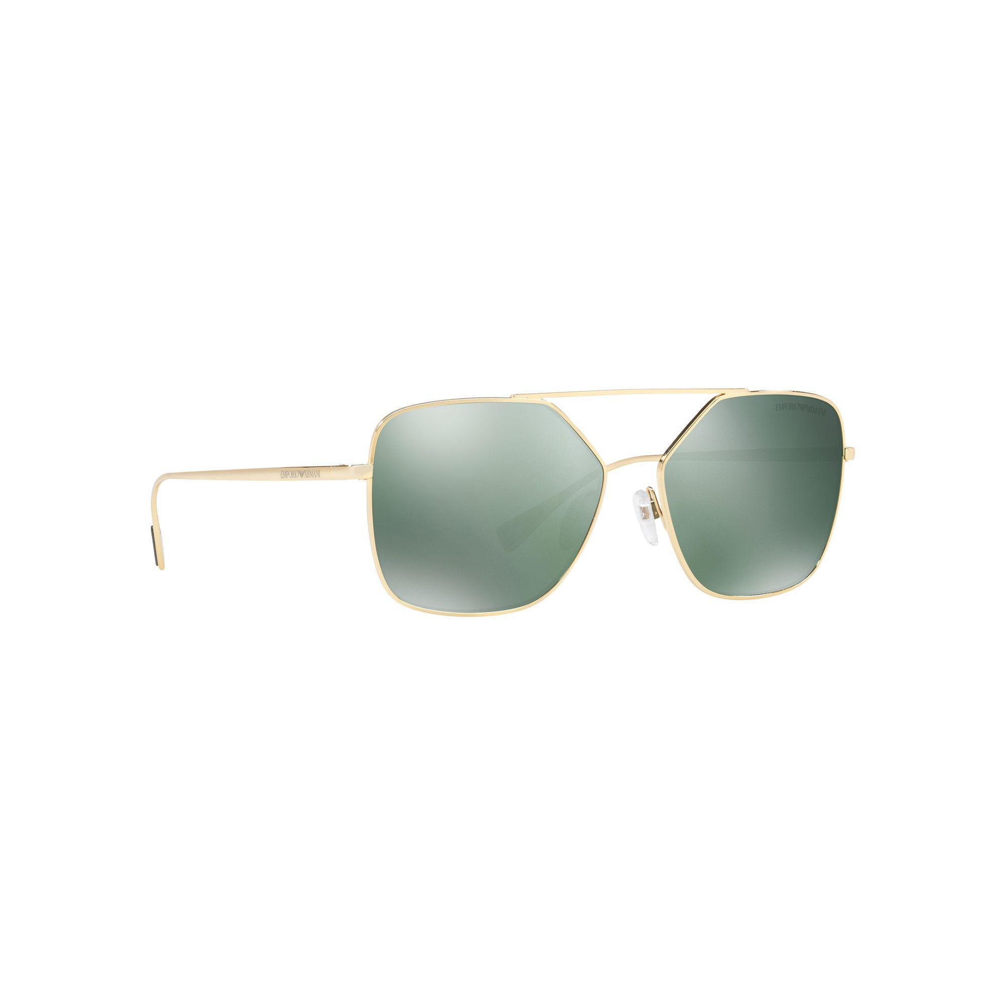 821446a667ce Emporio Armani - Metallic Pale Gold Ea2053 Square Sunglasses for Men -  Lyst. View fullscreen