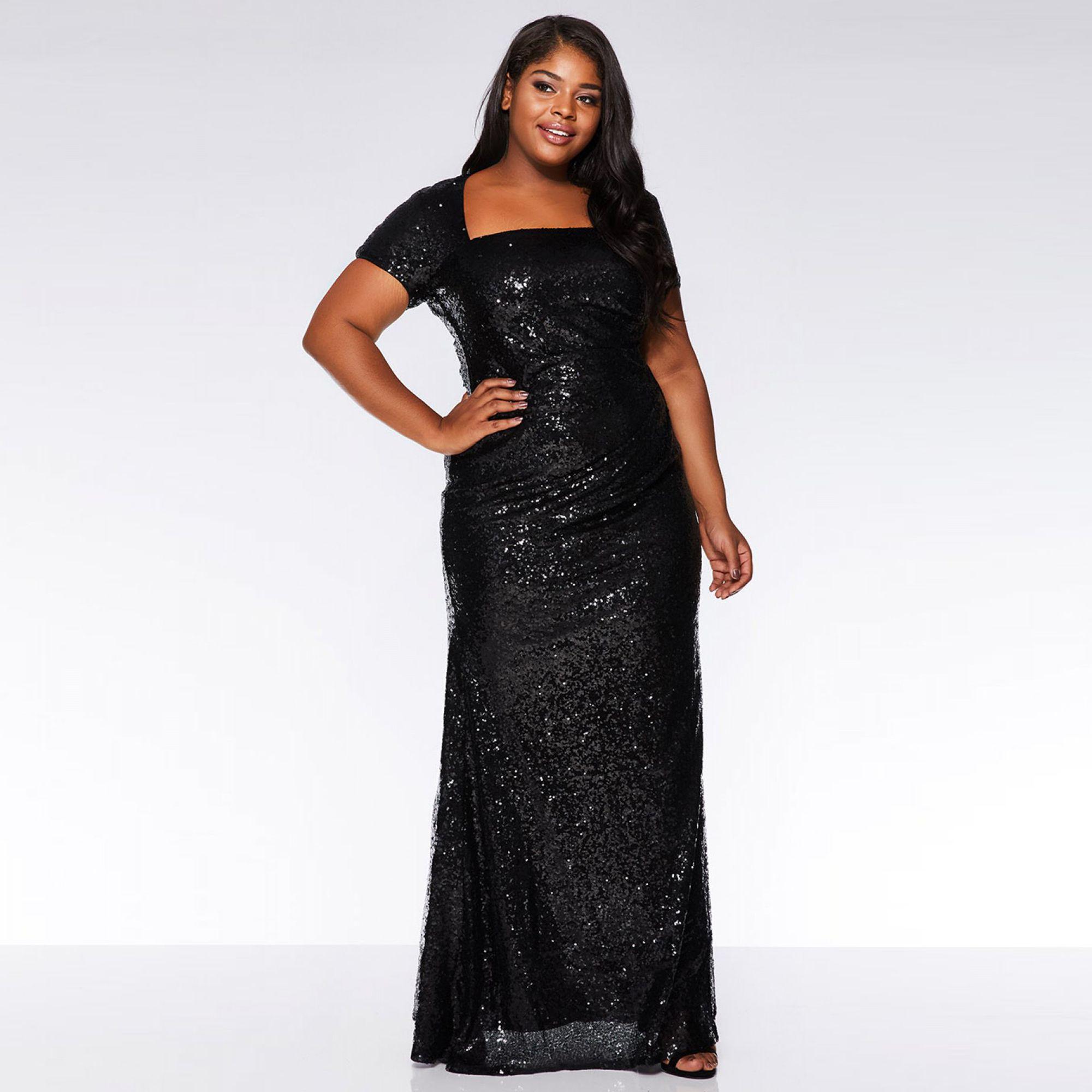 3aae652f2b Quiz Curve Black Sequin Cap Sleeve Maxi Dress in Black - Save 51% - Lyst