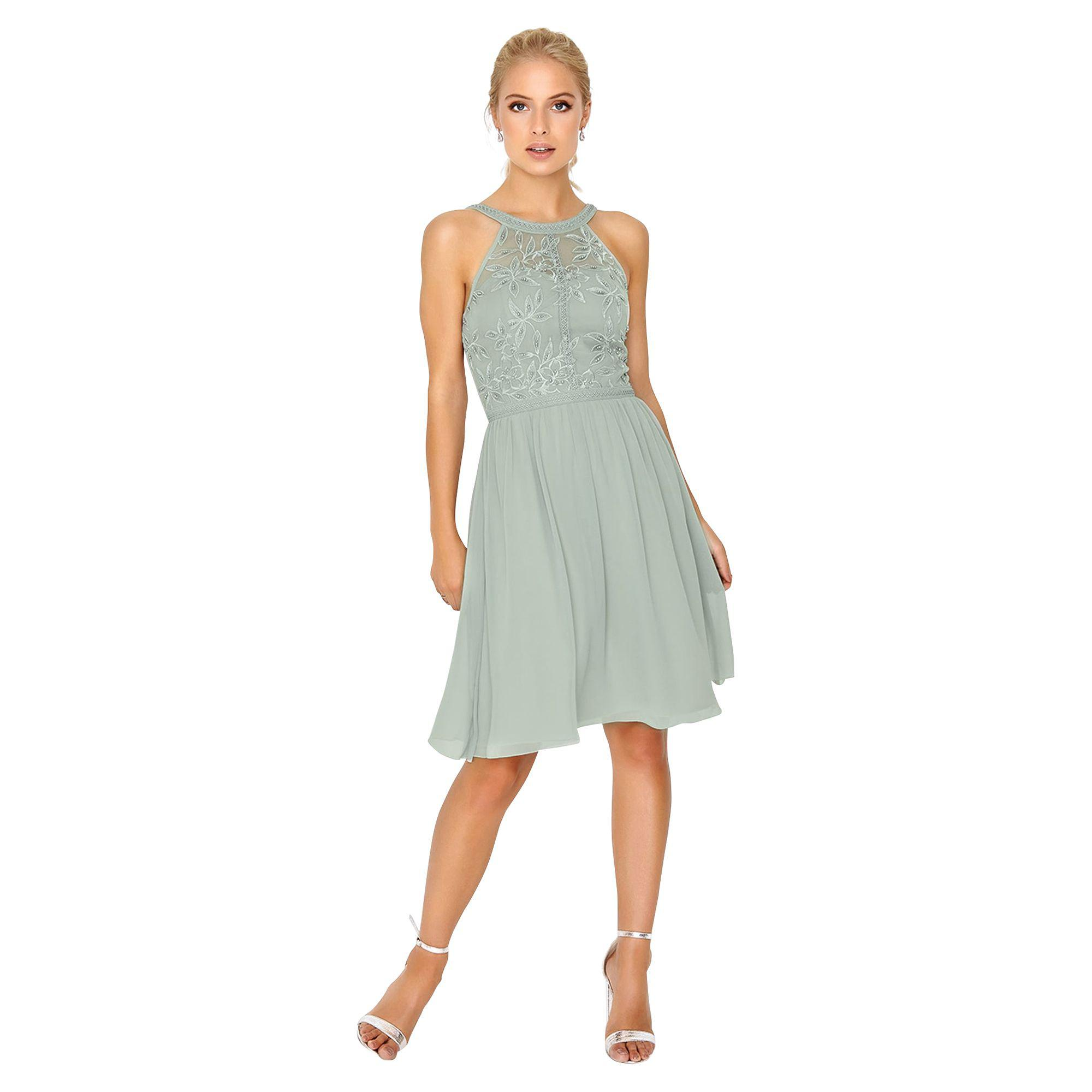 bf04f84dd49 Little Mistress Waterlily Dress in Gray - Lyst