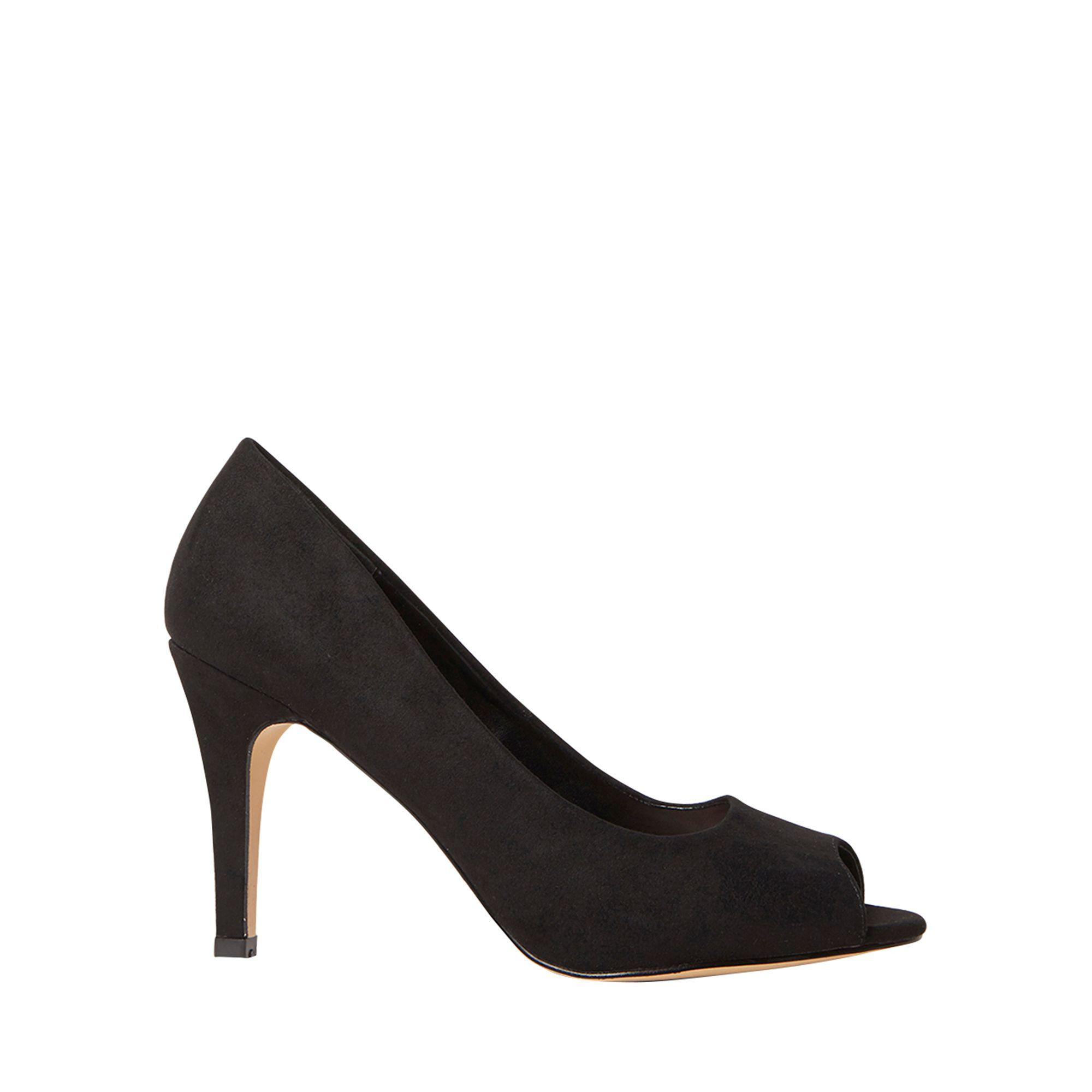 fee70be8935 Dorothy Perkins Wide Fit Black Clover Court Shoes in Black - Lyst