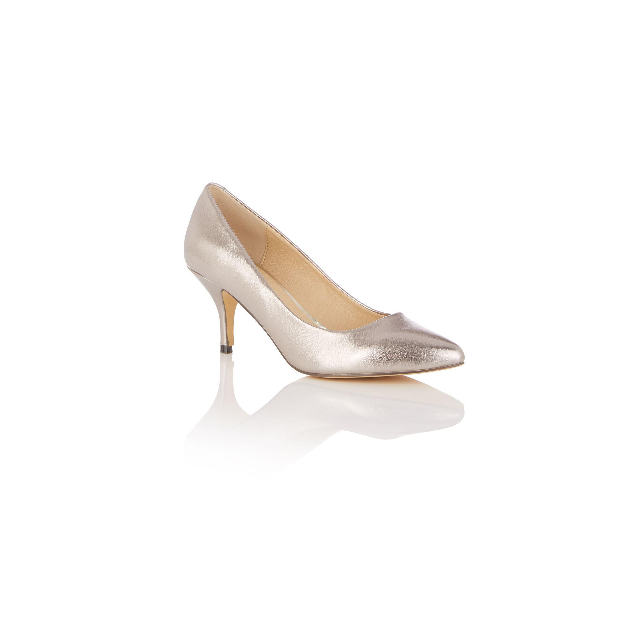 0d0366bce1f2 Oasis Pewter 'courtney' Court Shoes in Metallic - Lyst
