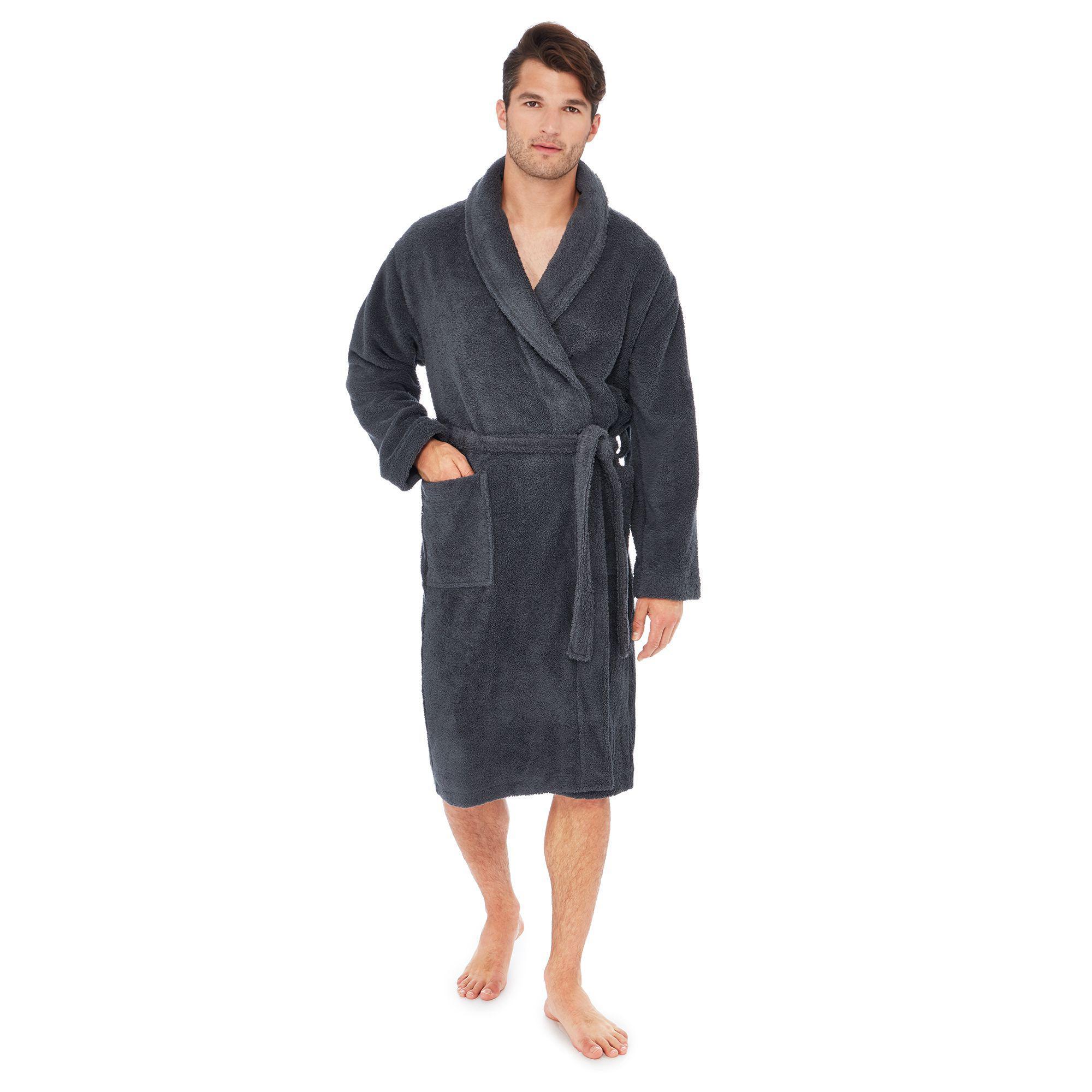 ad7bab26fe J By Jasper Conran Grey Cotton Rich Dressing Gown in Gray for Men - Lyst