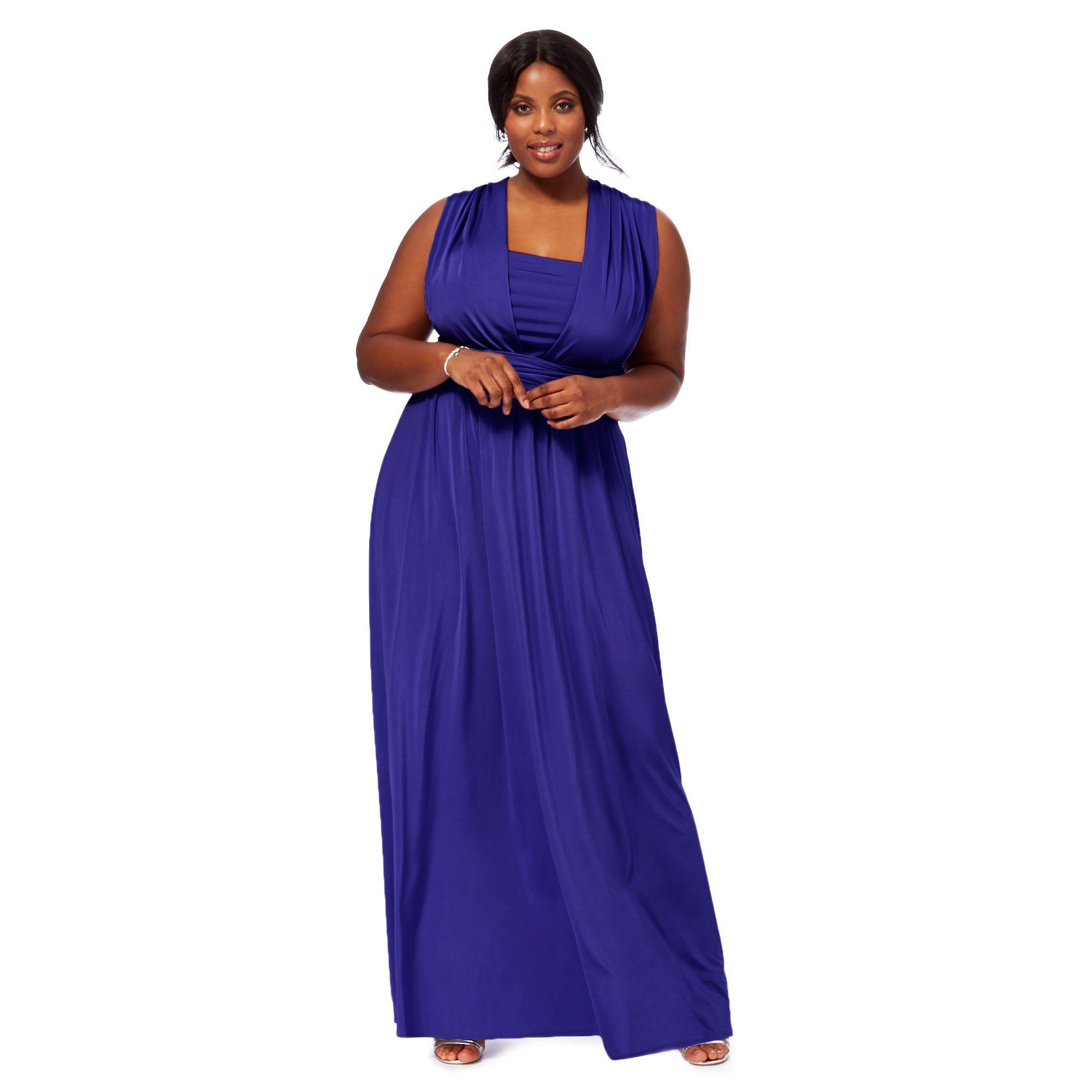 Début Blue Multiway Plus Size Evening Dress in Blue - Lyst