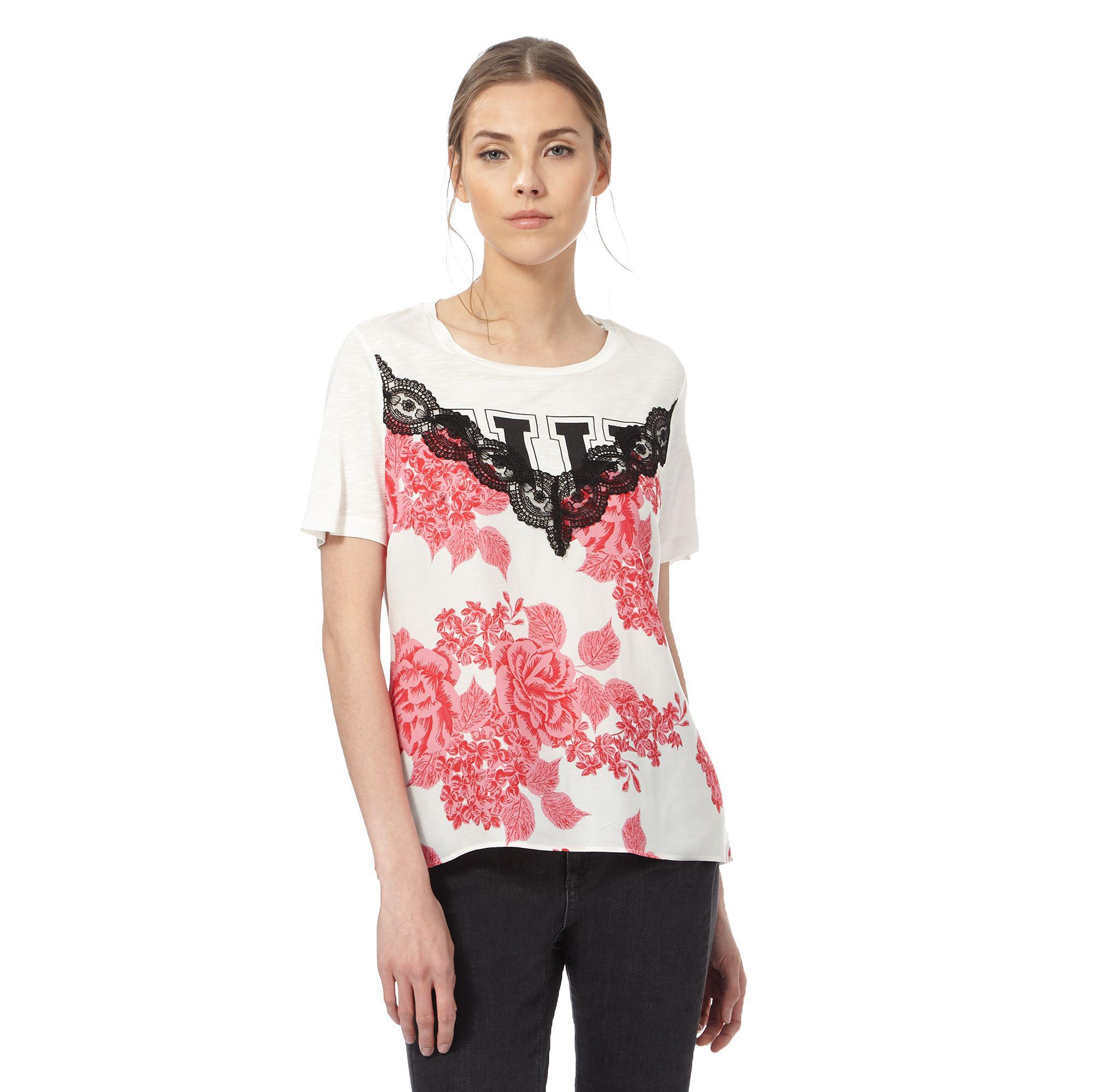 Of Holland Lace White In House Print Floral Lyst Top dQxrCtsh