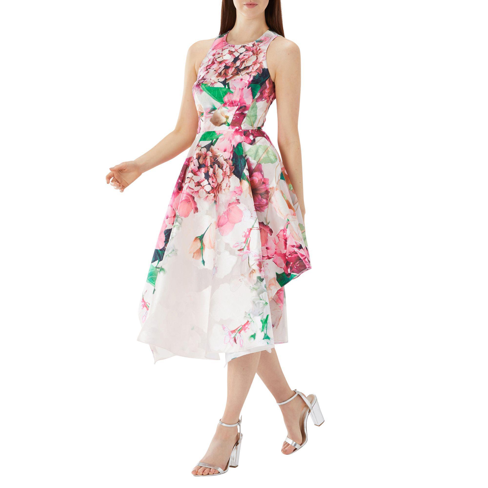 Coast Floral Print Erica Jacquard Midi Dress In Pink Lyst Jolie Clothing Patsy Mini View Fullscreen