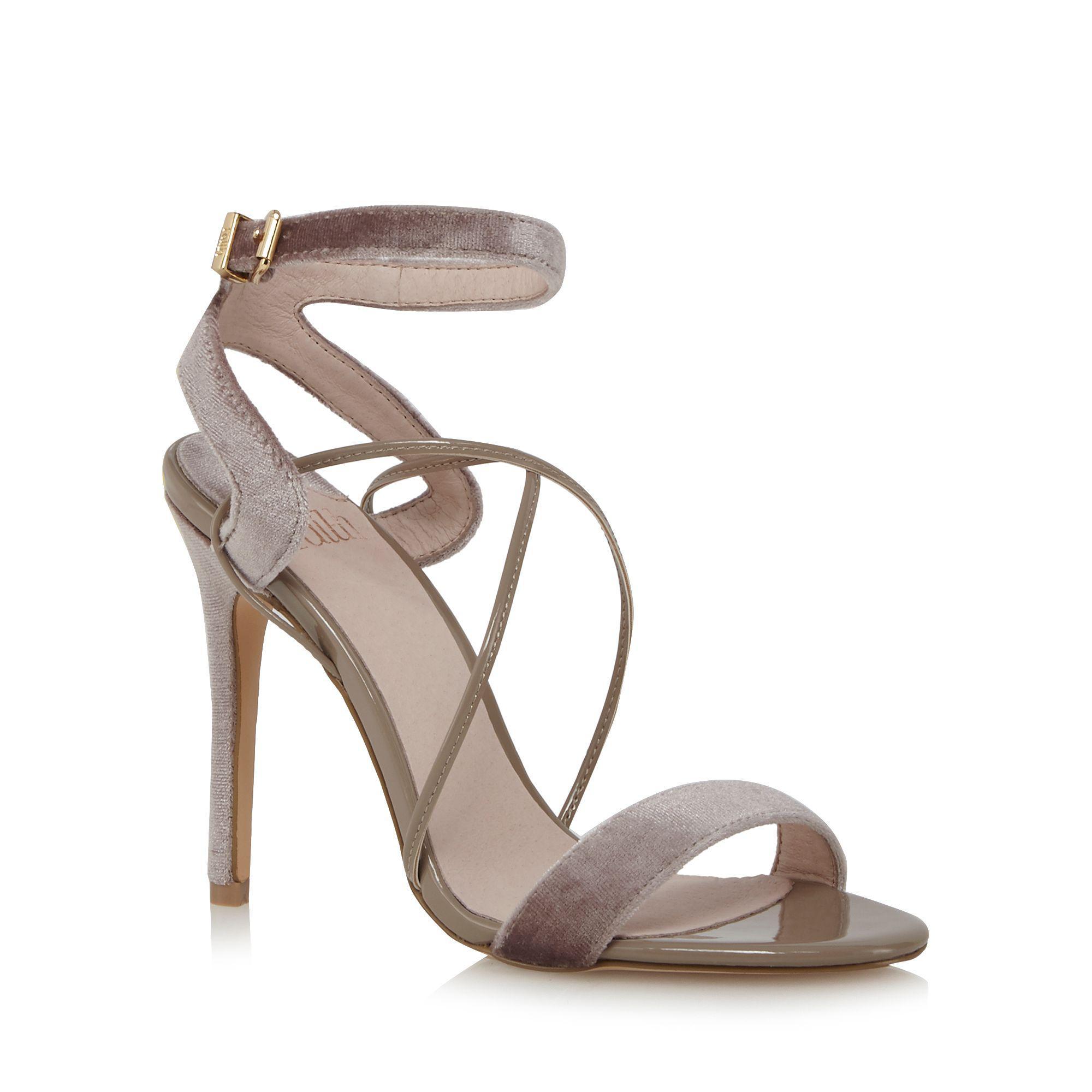 8c6a31bf35b0 Faith Purple  dana  High Stiletto Heel Ankle Strap Sandals in Purple ...