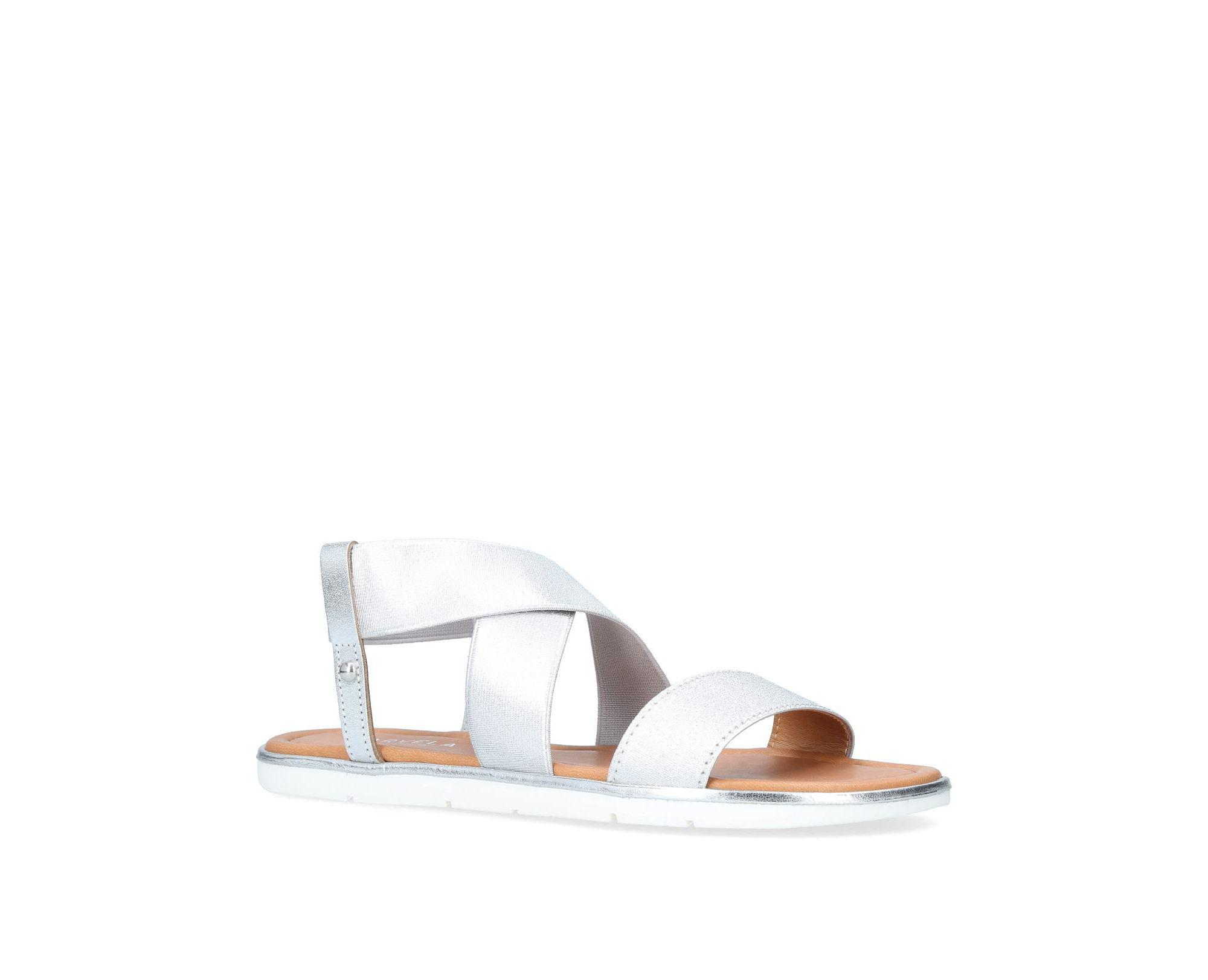 4fef1ffb4 Carvela Kurt Geiger Silver  beckon  Flat Sandals in Metallic - Save ...