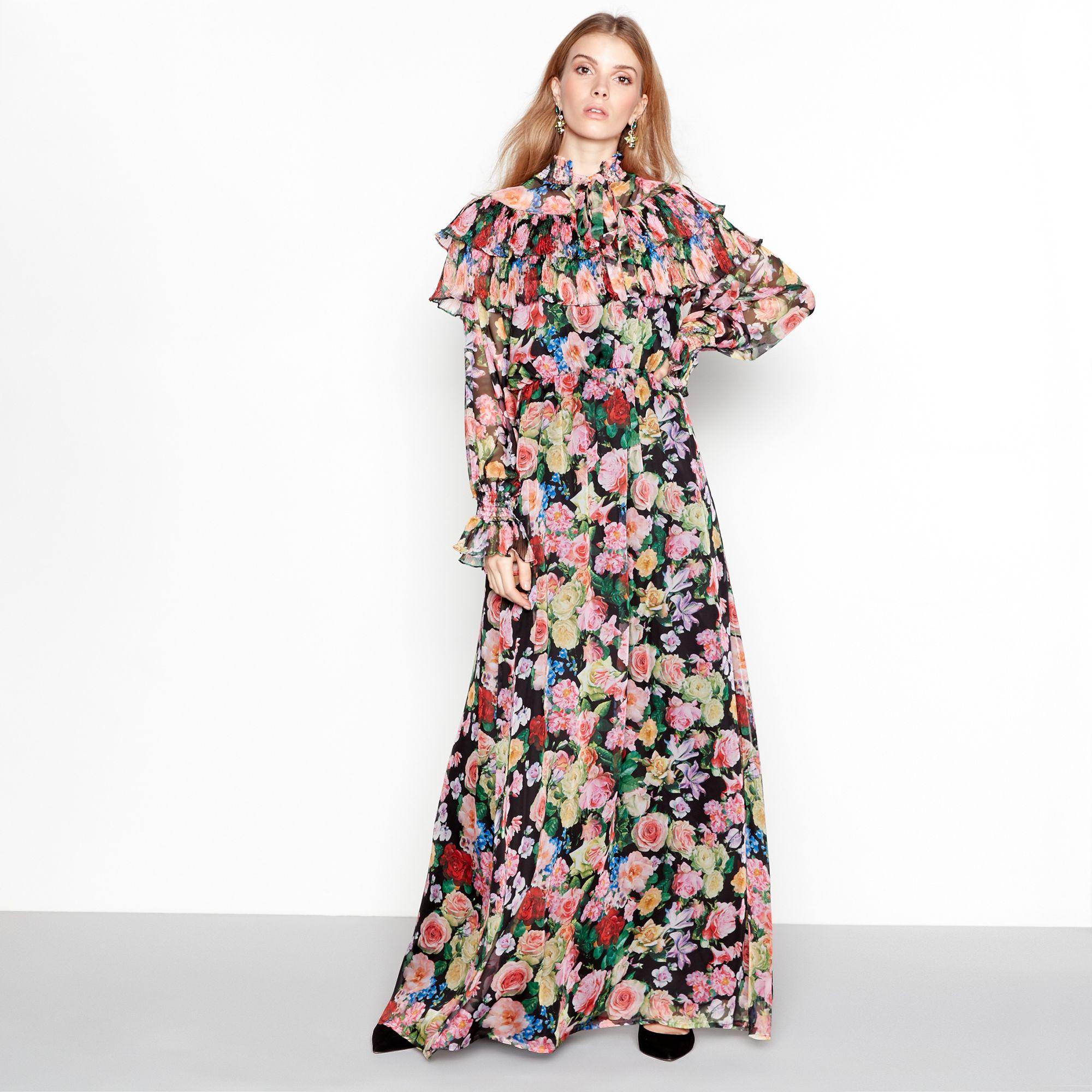 3f8541335d Y.A.S Multi-coloured Floral Print Long Sleeve Maxi Dress - Lyst