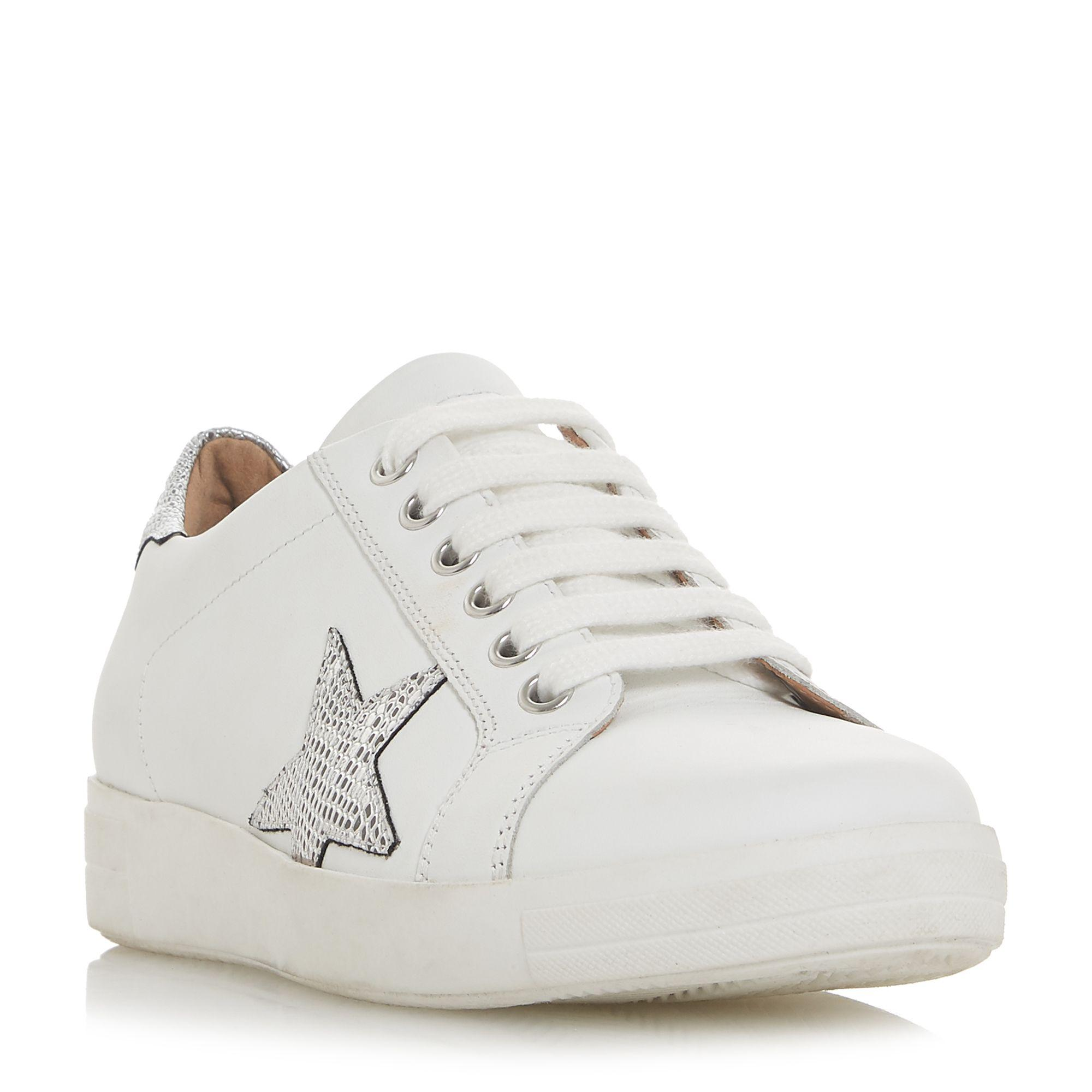 be728f93c388 Dune White Leather 'edris' Lace Up Trainers in White - Lyst