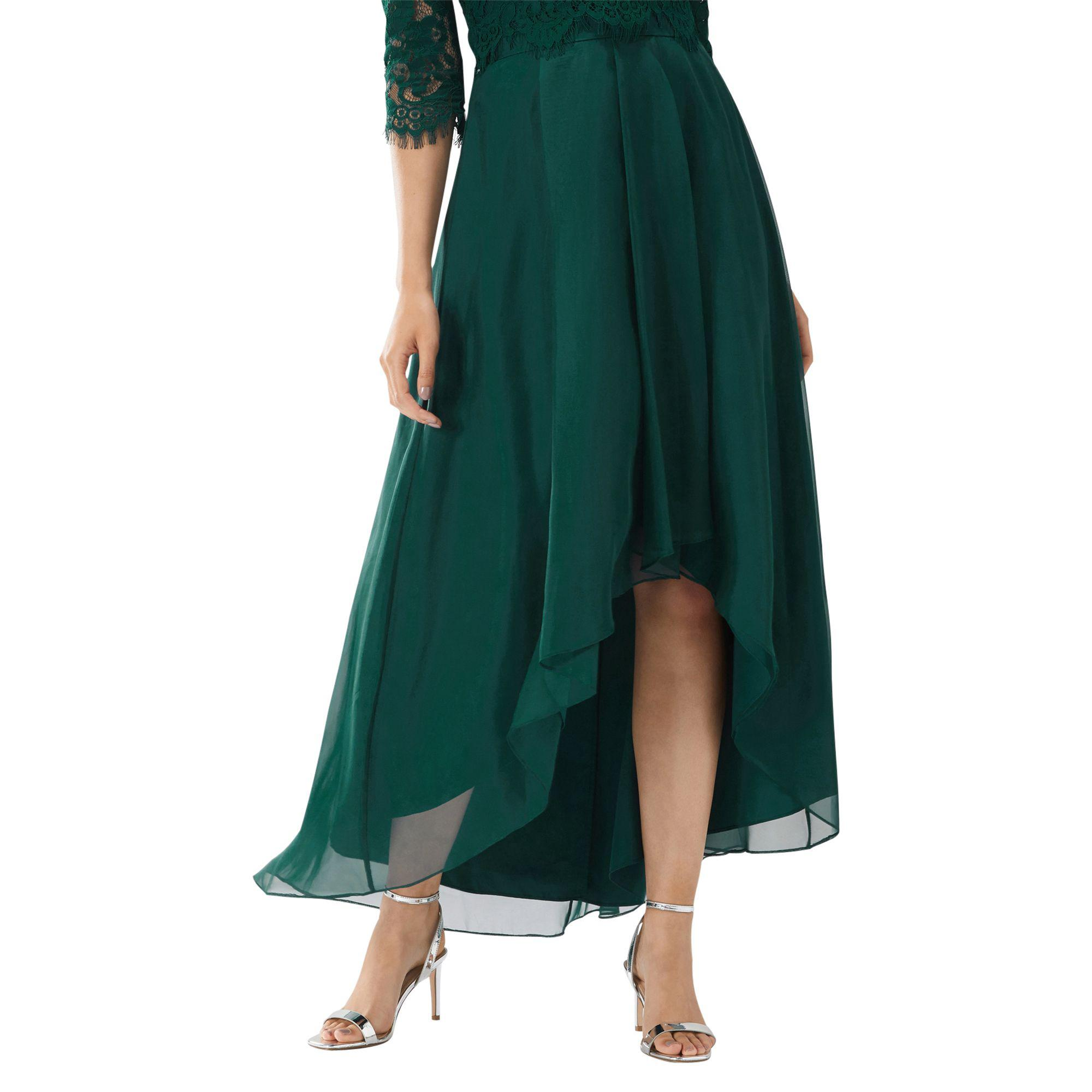 129b650ac1 Coast Forest Green 'april' High Low Organza Skirt in Green - Lyst