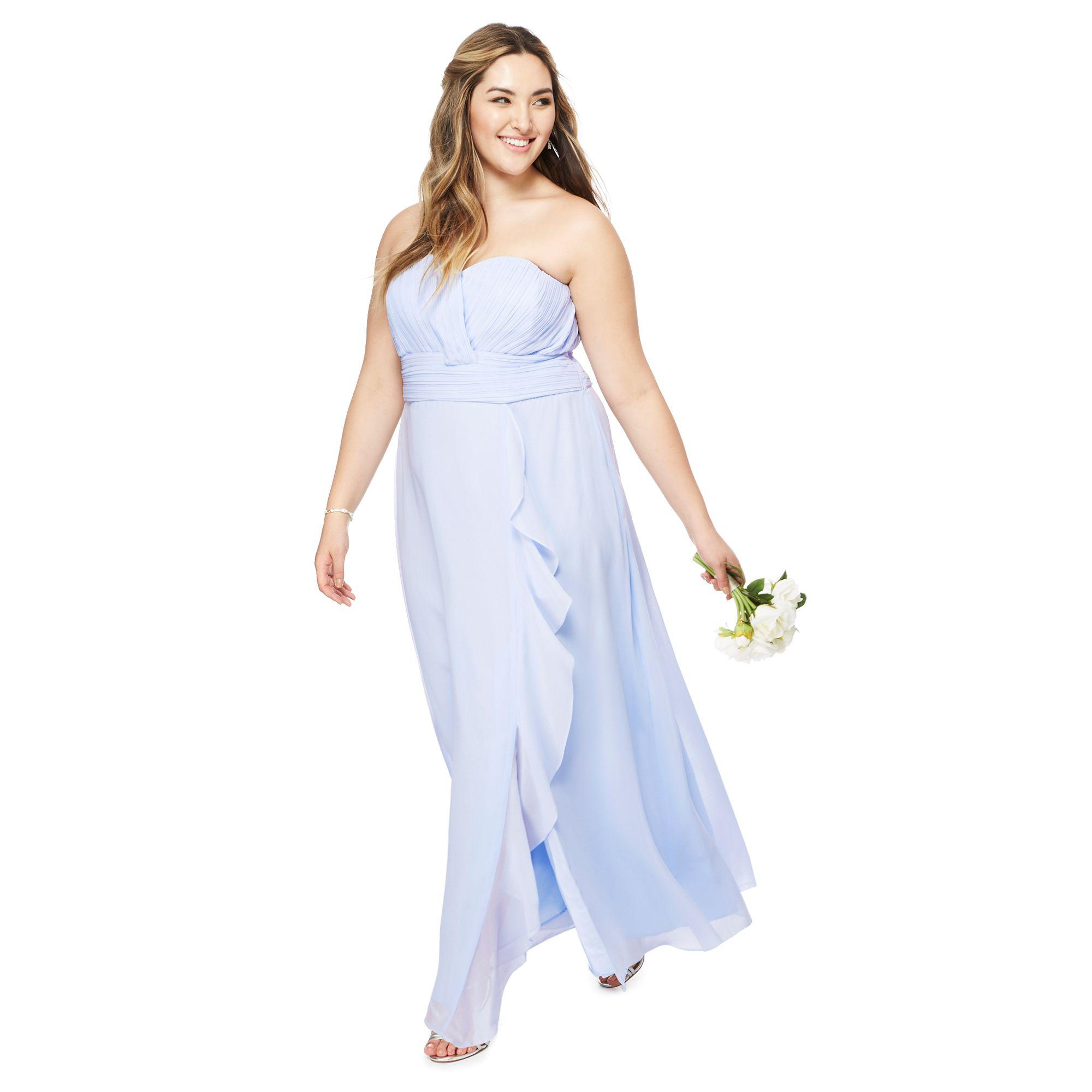 top pretty sky perfect p one glamorous light backless dresses shoulder lighting bridesmaid blue fuchsia chiffon dress