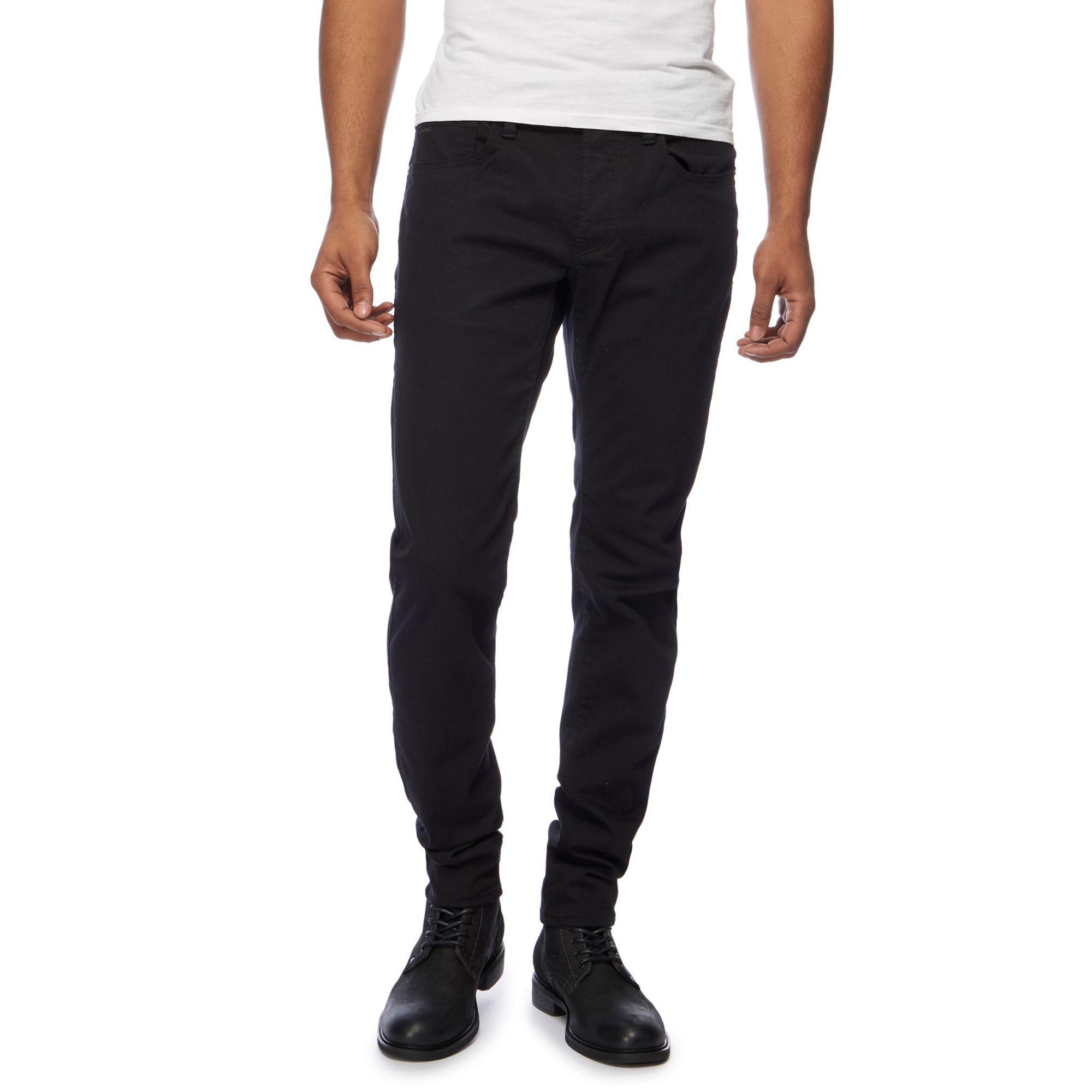 13d9e334af2990 G-Star RAW Black '3301' Slim Fit Jeans in Black for Men - Lyst