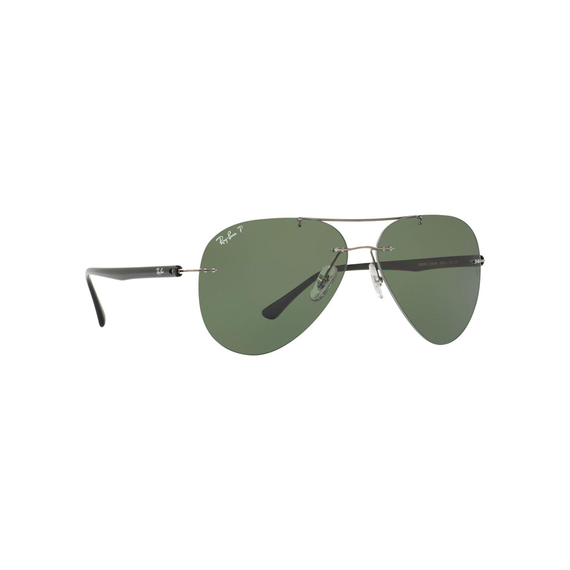 ab02253981 Lyst - Ray-Ban Gunmetal Rb8058 Pilot Sunglasses in Gray