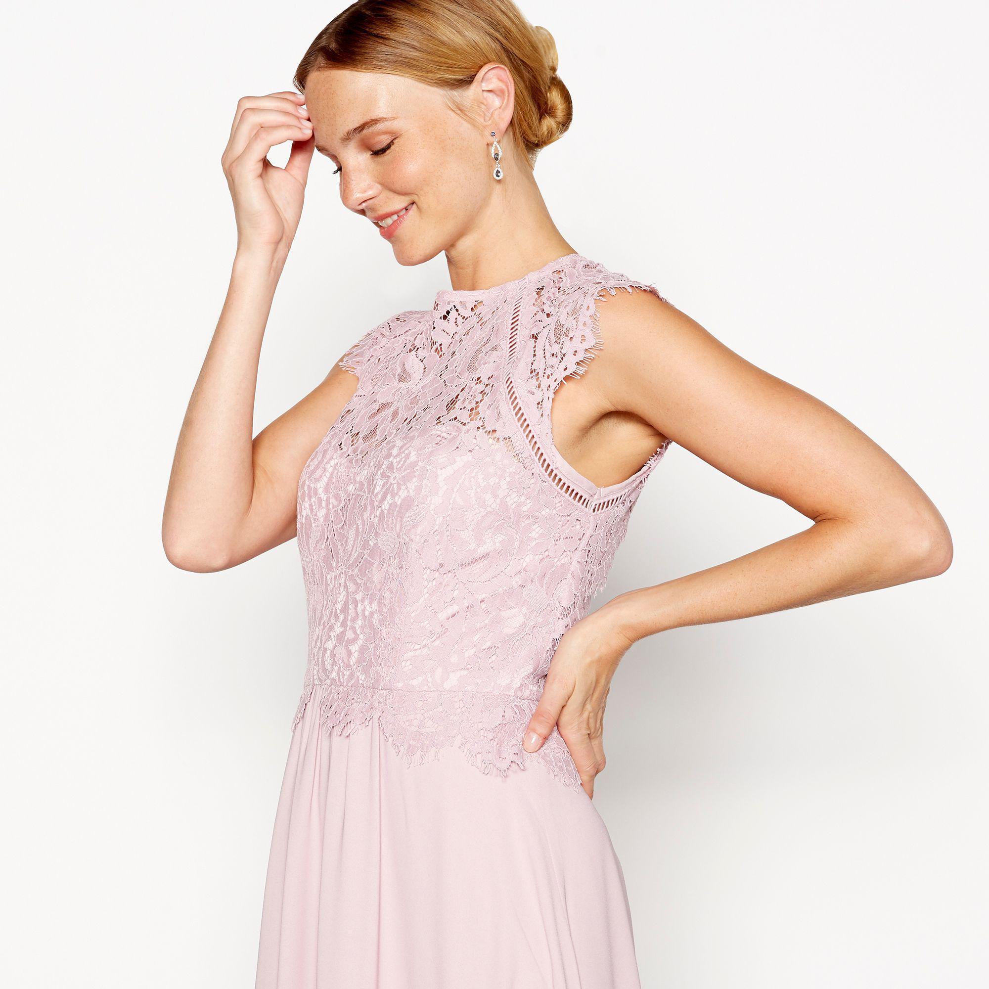 135c6f003634 Début - Pink Rose 'olivia' Lace Maxi Dress - Lyst. View fullscreen