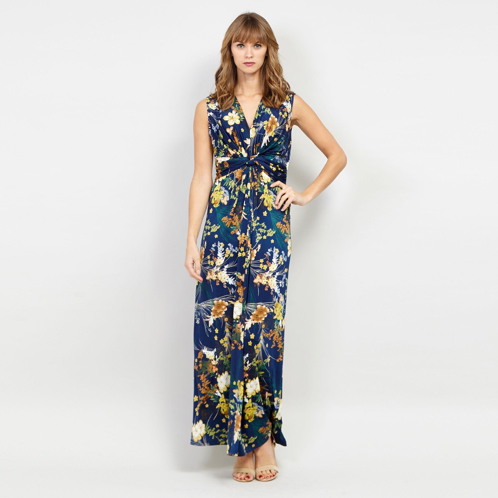 0e5ae08eb56 Izabel London - Blue Navy Floral Printed Maxi Dress - Lyst. View fullscreen