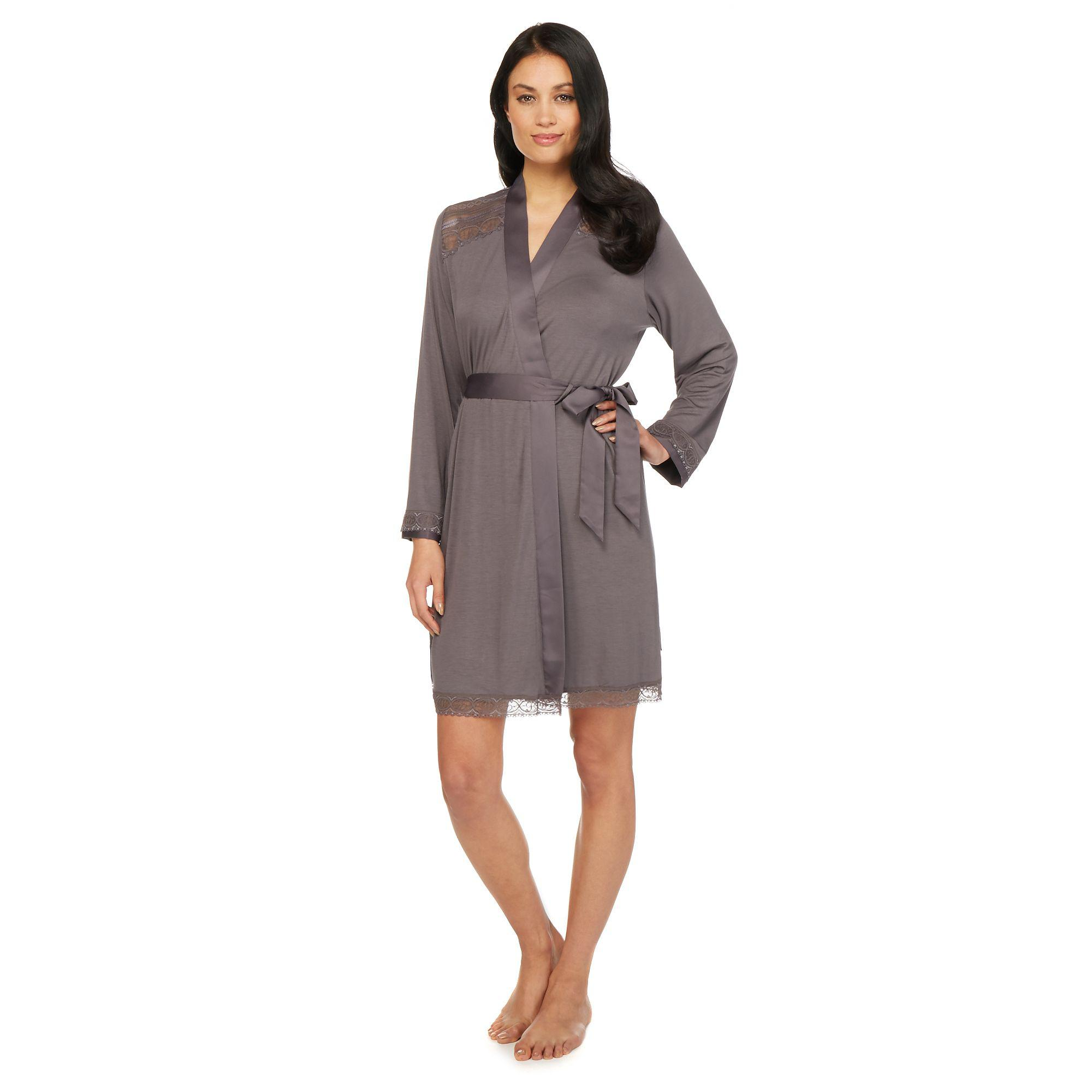 Ted Baker Grey Lace Dressing Gown In Gray Lyst