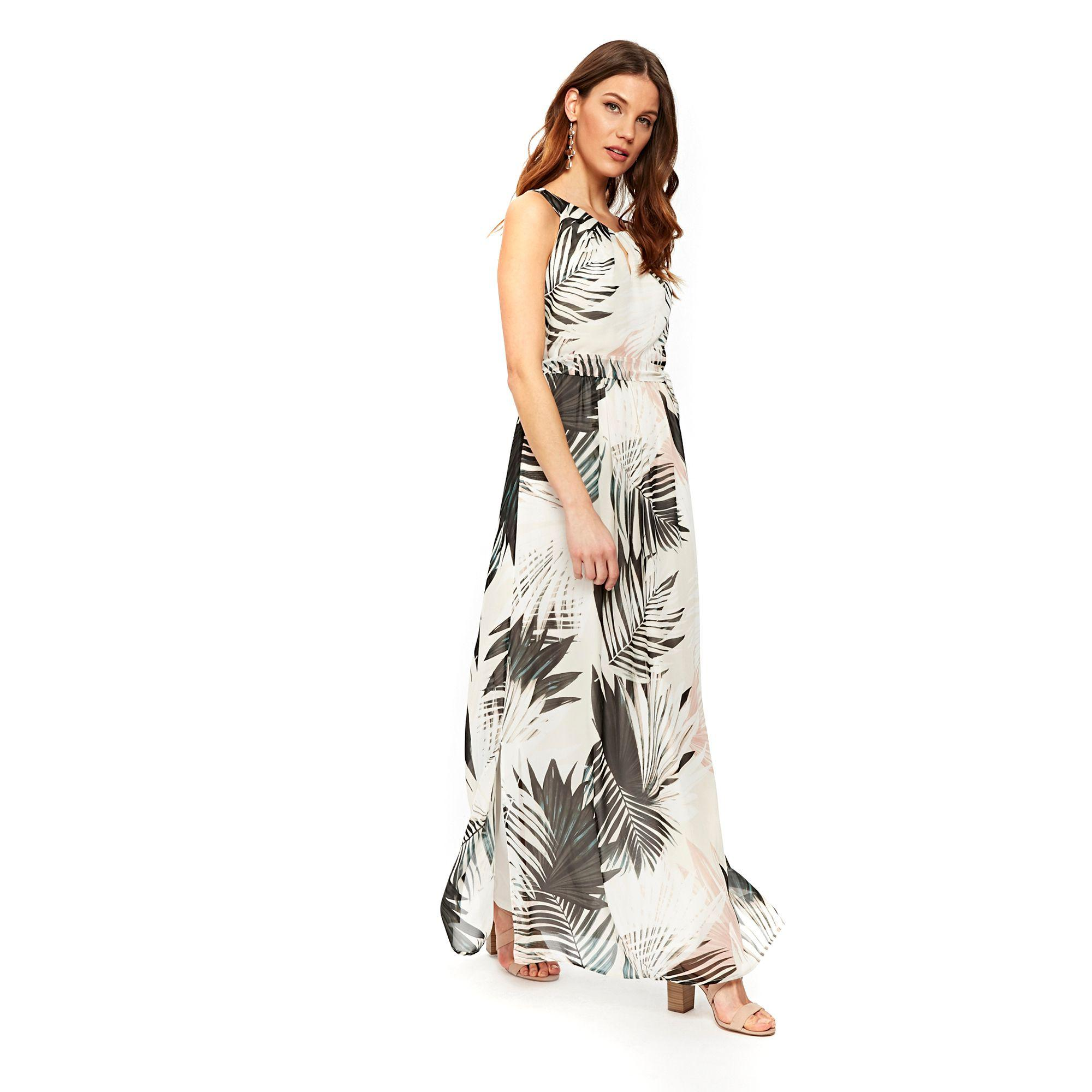 71a299d21c1 Wallis Ivory Palm Print Maxi Dress in Pink - Lyst