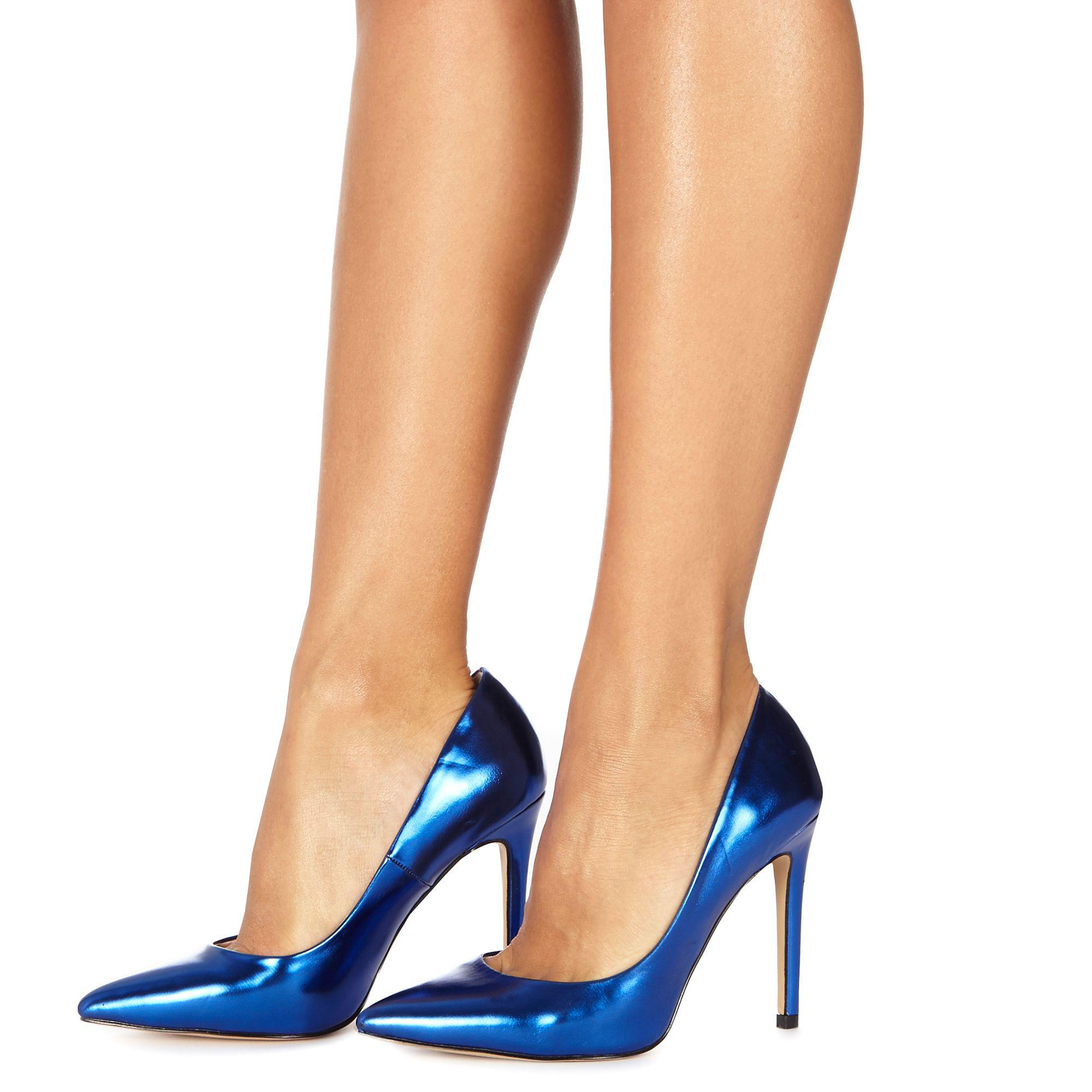4784fcf7eace1 Faith Blue 'chloe' High Heel Wide Fit Pointed Shoes in Blue - Lyst