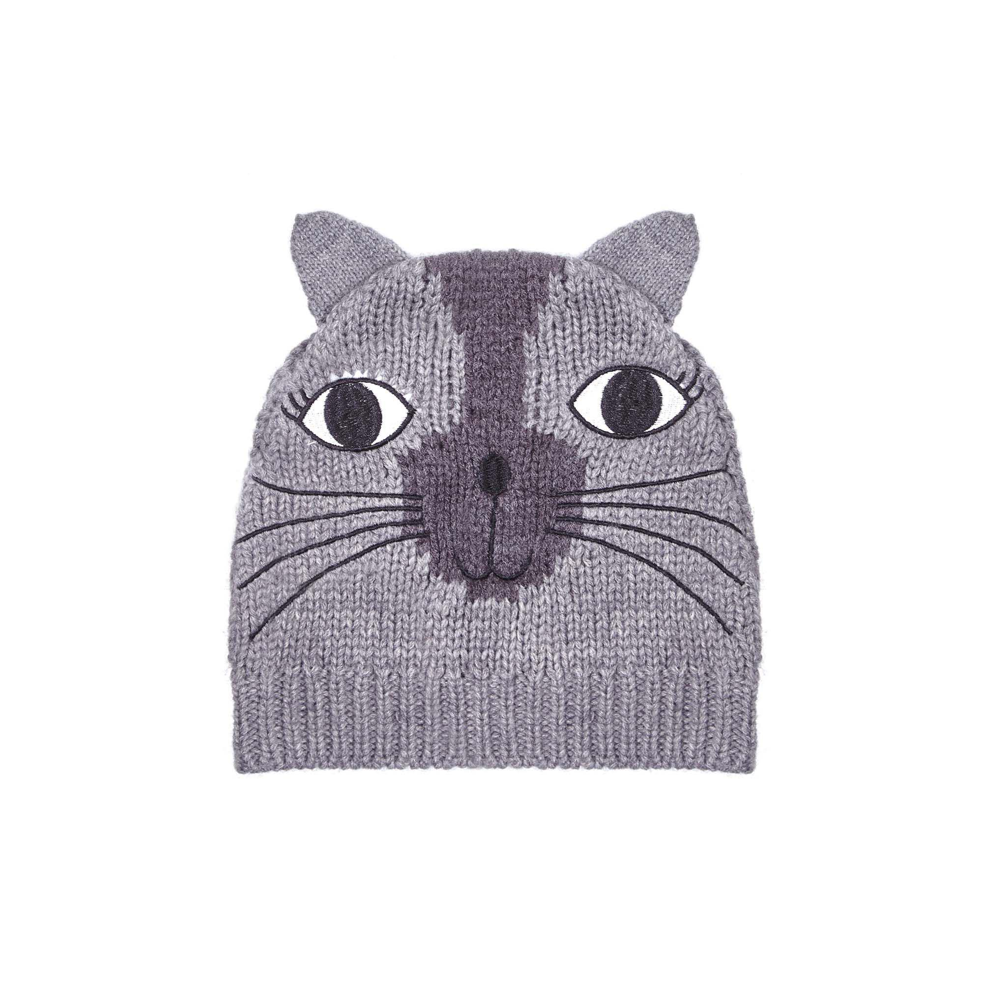 581f7e0456d Yumi  - Gray Grey Knitted Cat Hat With Ears - Lyst. View fullscreen