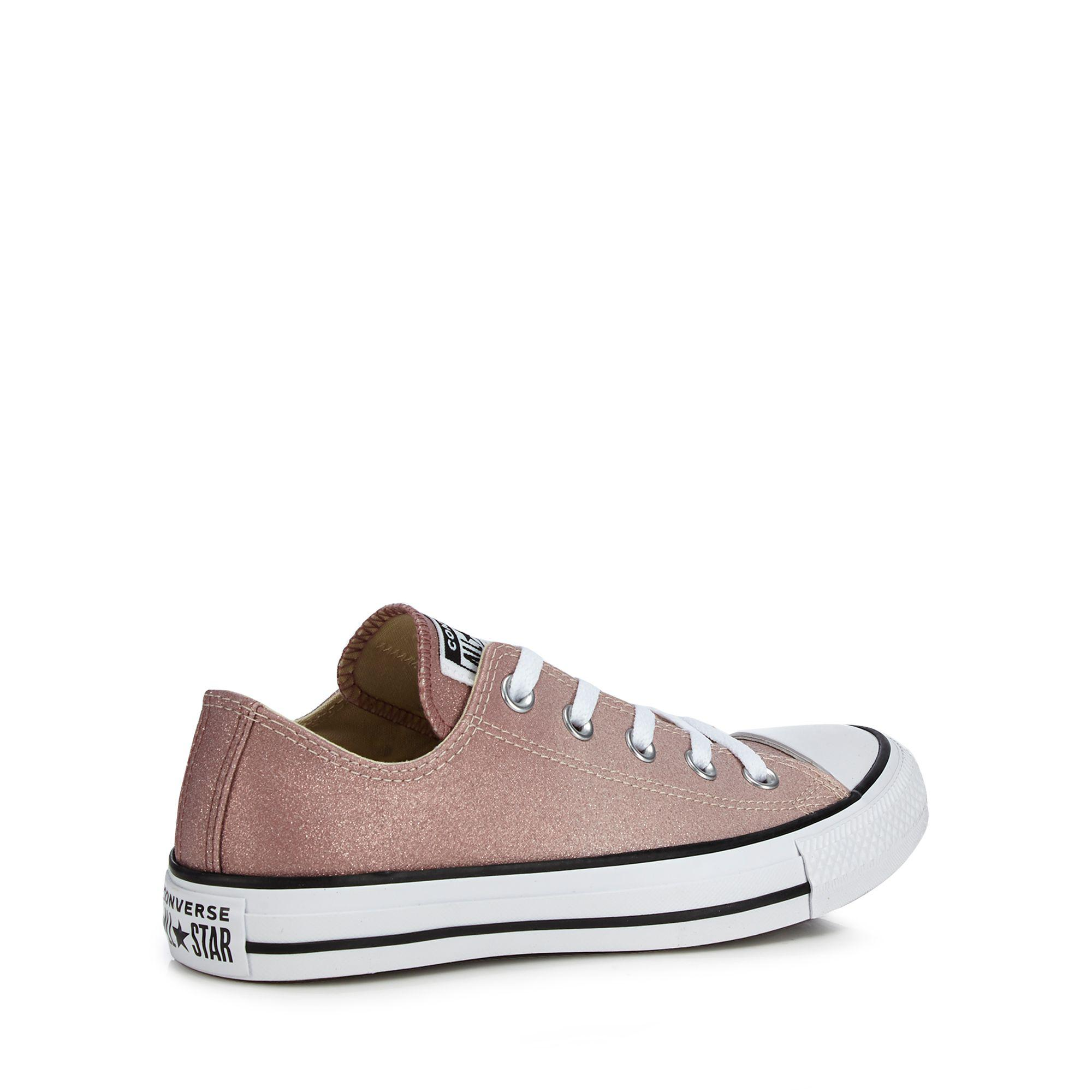 2563703e4928f2 Converse - Gray Pink Glitter  all Star Ox  Trainers - Lyst. View fullscreen