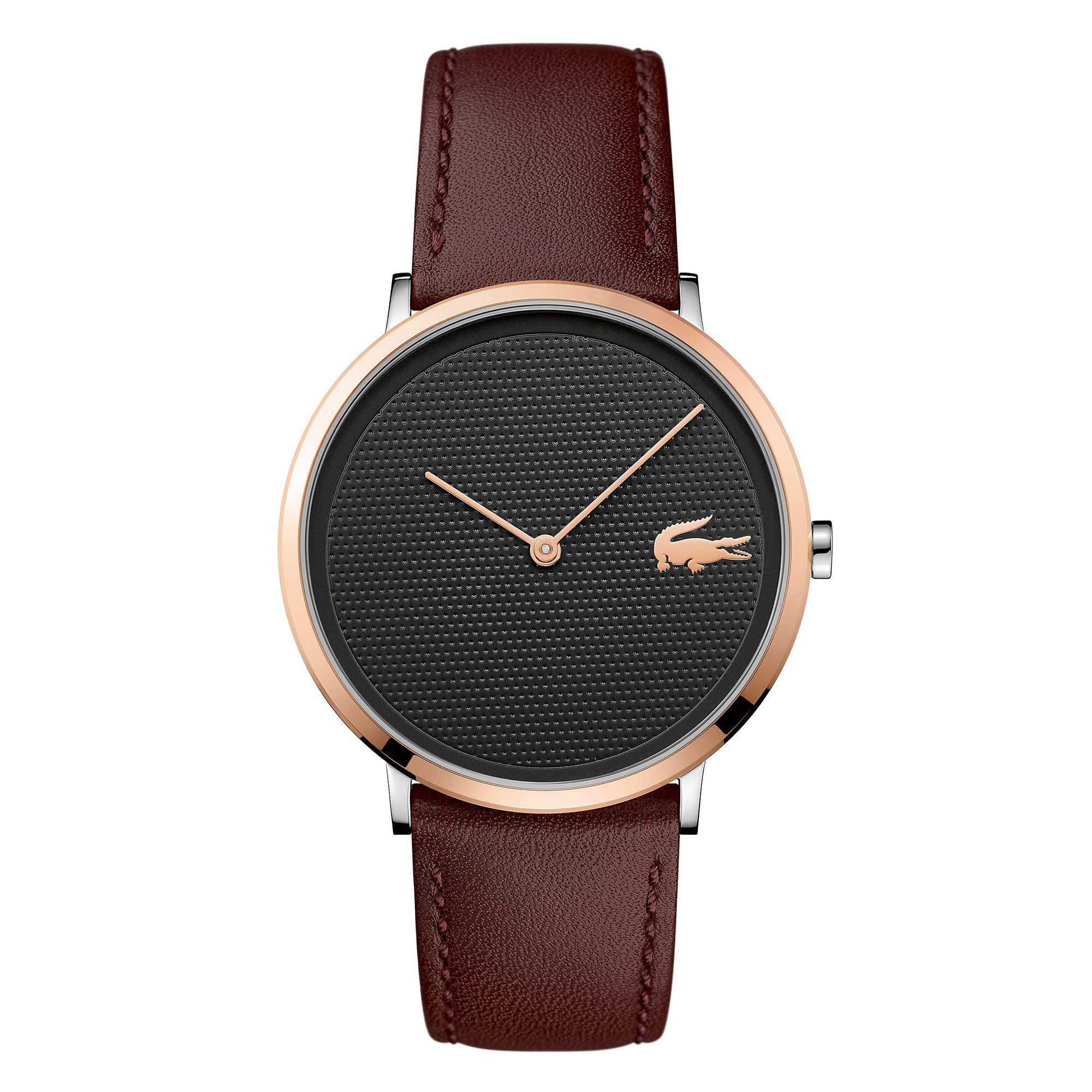 Lacoste. Men's Brown 'moon' Chronograph Strap Watch