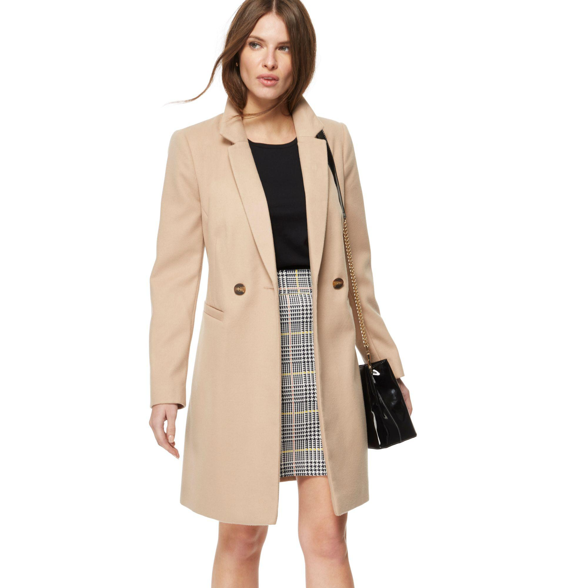 574748871145 Red Herring Camel City Coat in Natural - Lyst