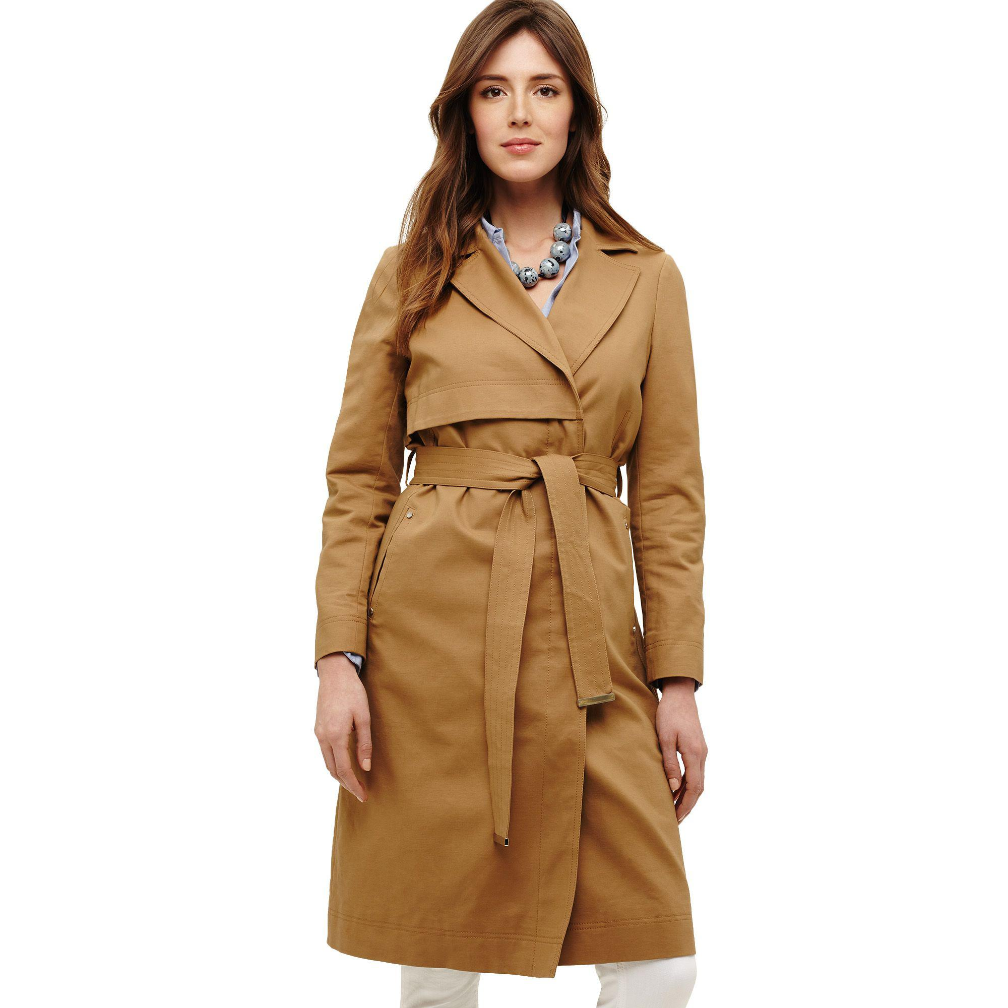 sale famous designer brand big clearance sale Phase Eight Cotton Natural Tayte Belted Trench Coat - Lyst