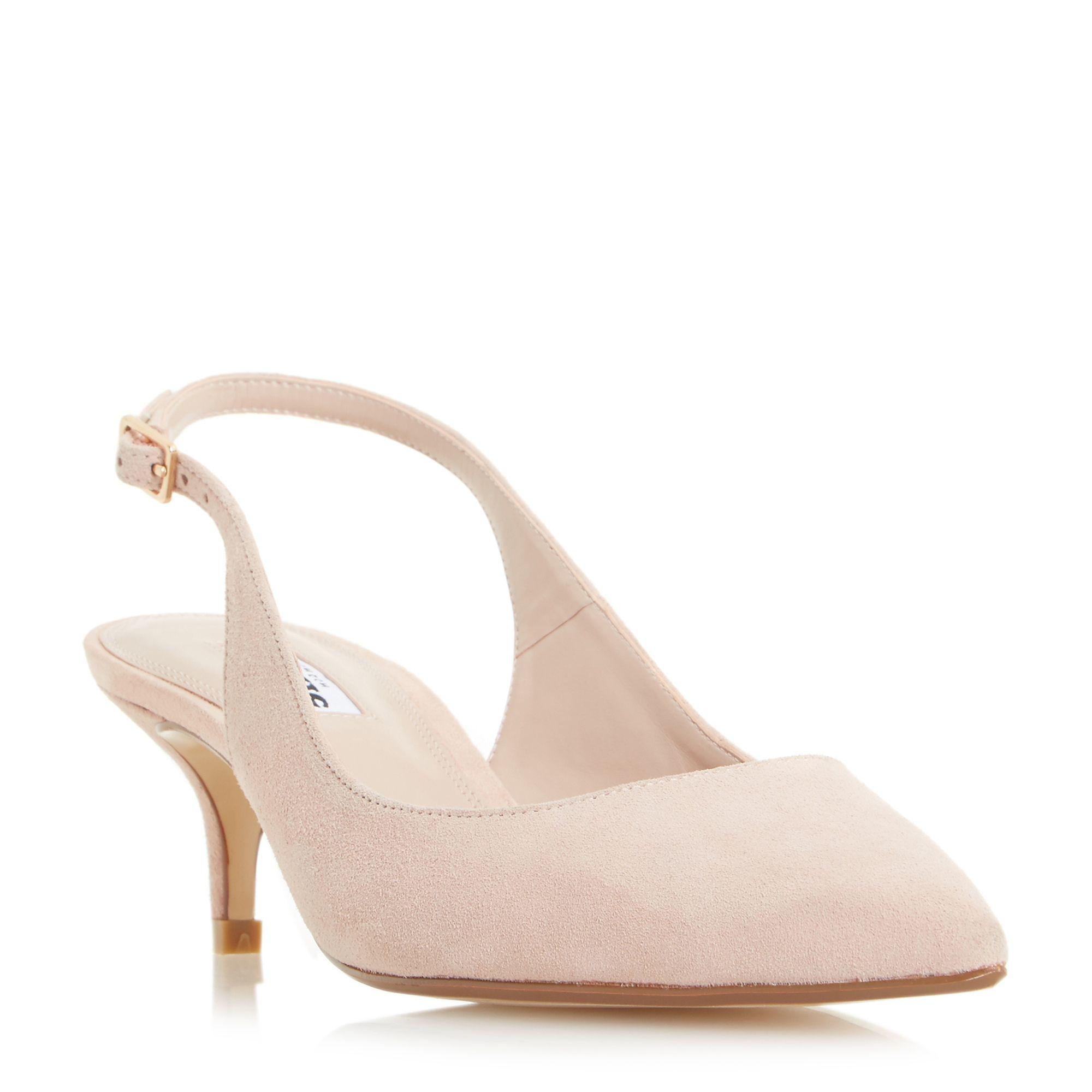 305a53ac532 Dune Blush  casandra  Kitten Heel Slingback Court Shoes in Pink - Lyst