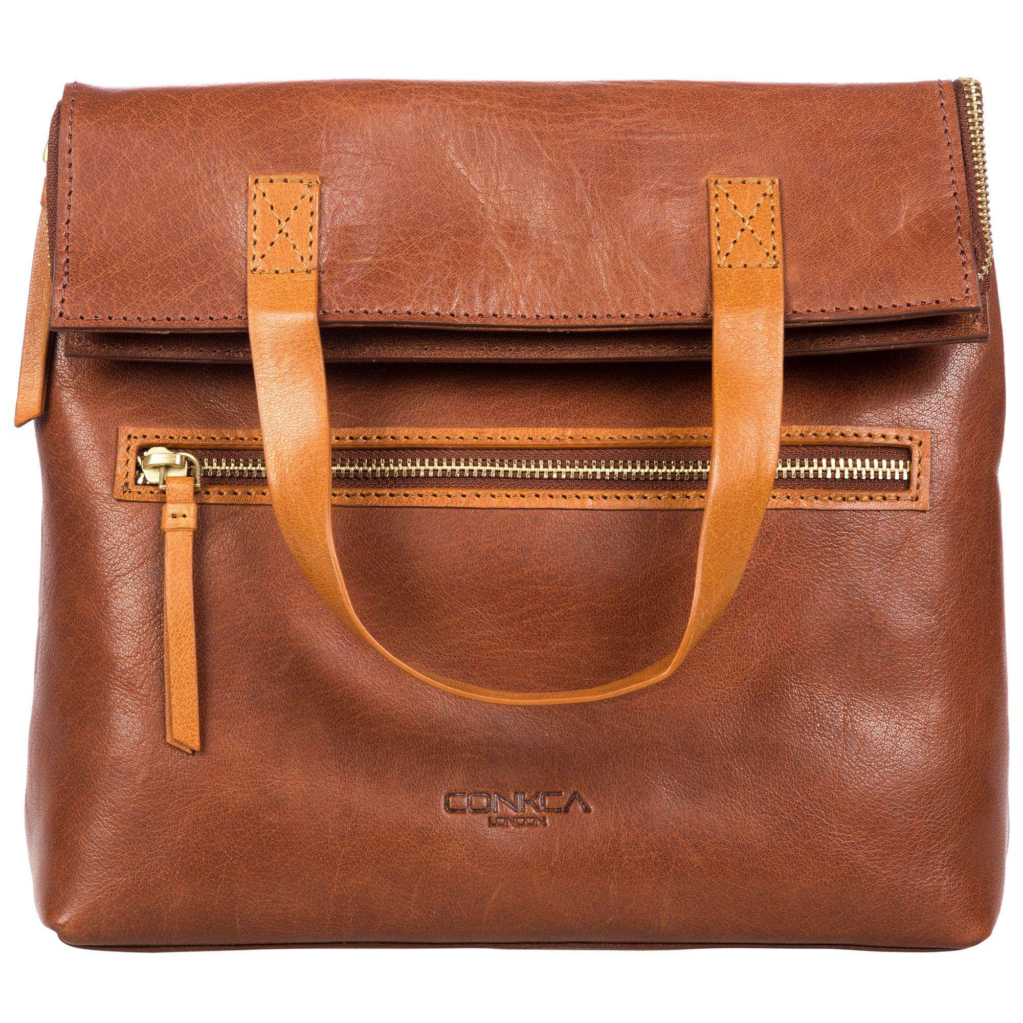 ffcfd443109d Conkca London Conker Brown And Cognac  anoushka  Handcrafted Leather ...