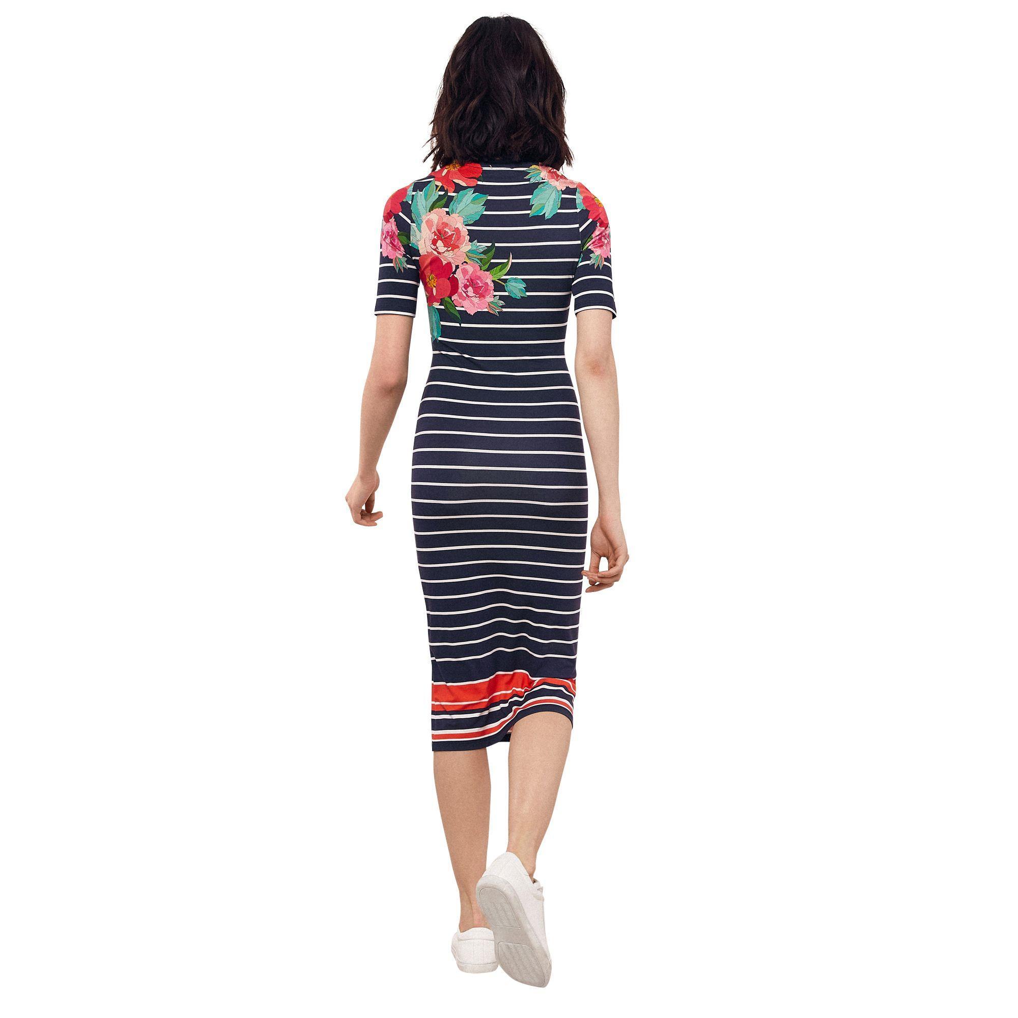 f2108defe2fe Oasis - Multi Blue 'amya' Stripe And Print Tube Dress - Lyst. View  fullscreen