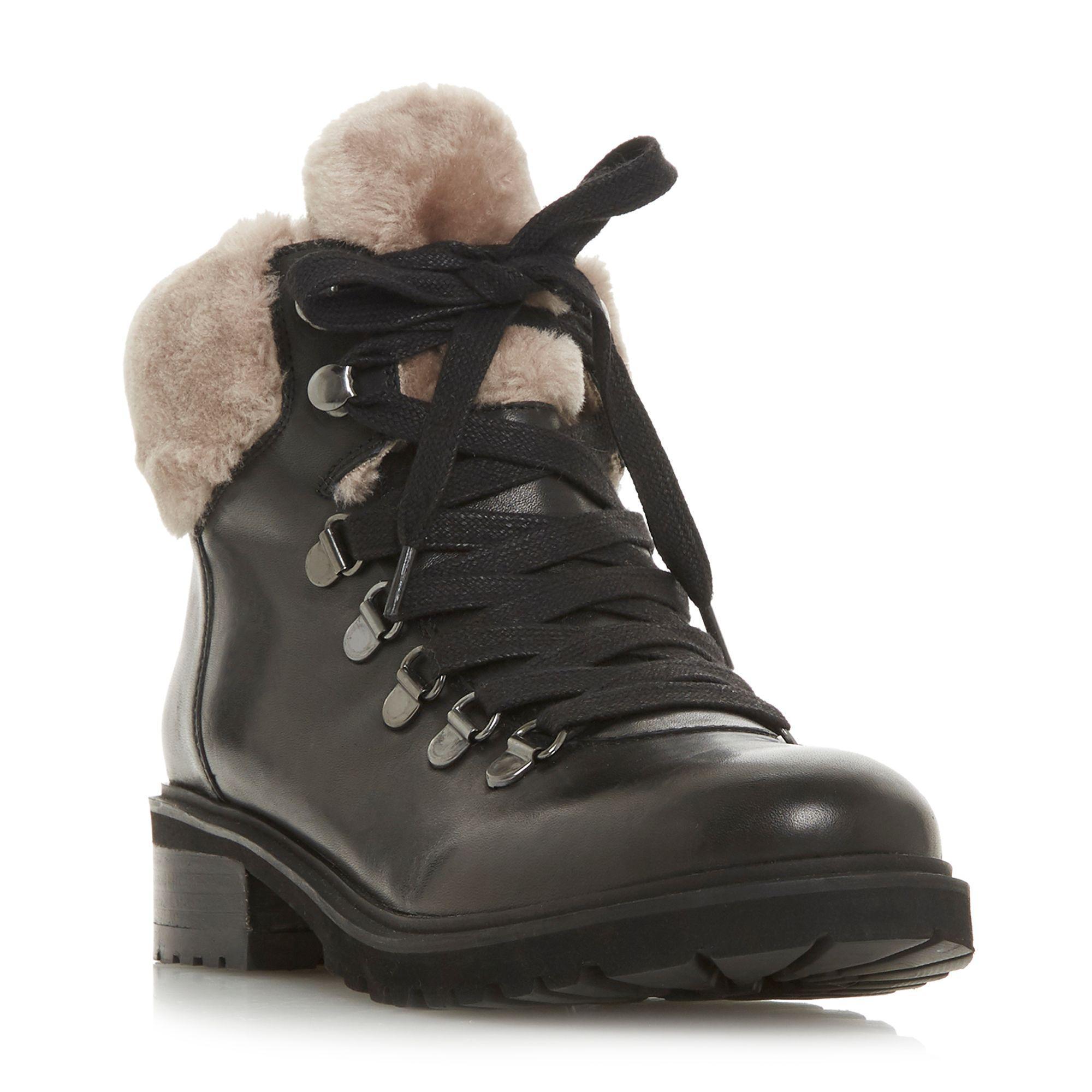 a5a211a5af5 Steve Madden Black Leather  tree  Block Heel Biker Boots in Black ...