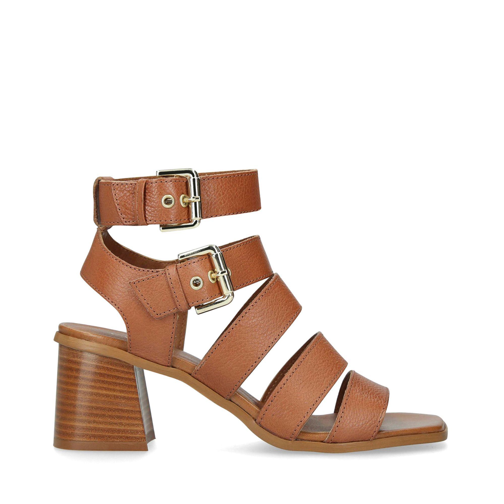 7f19bb4bf3 Carvela Kurt Geiger Astute Leather Heeled Sandals in Brown - Lyst