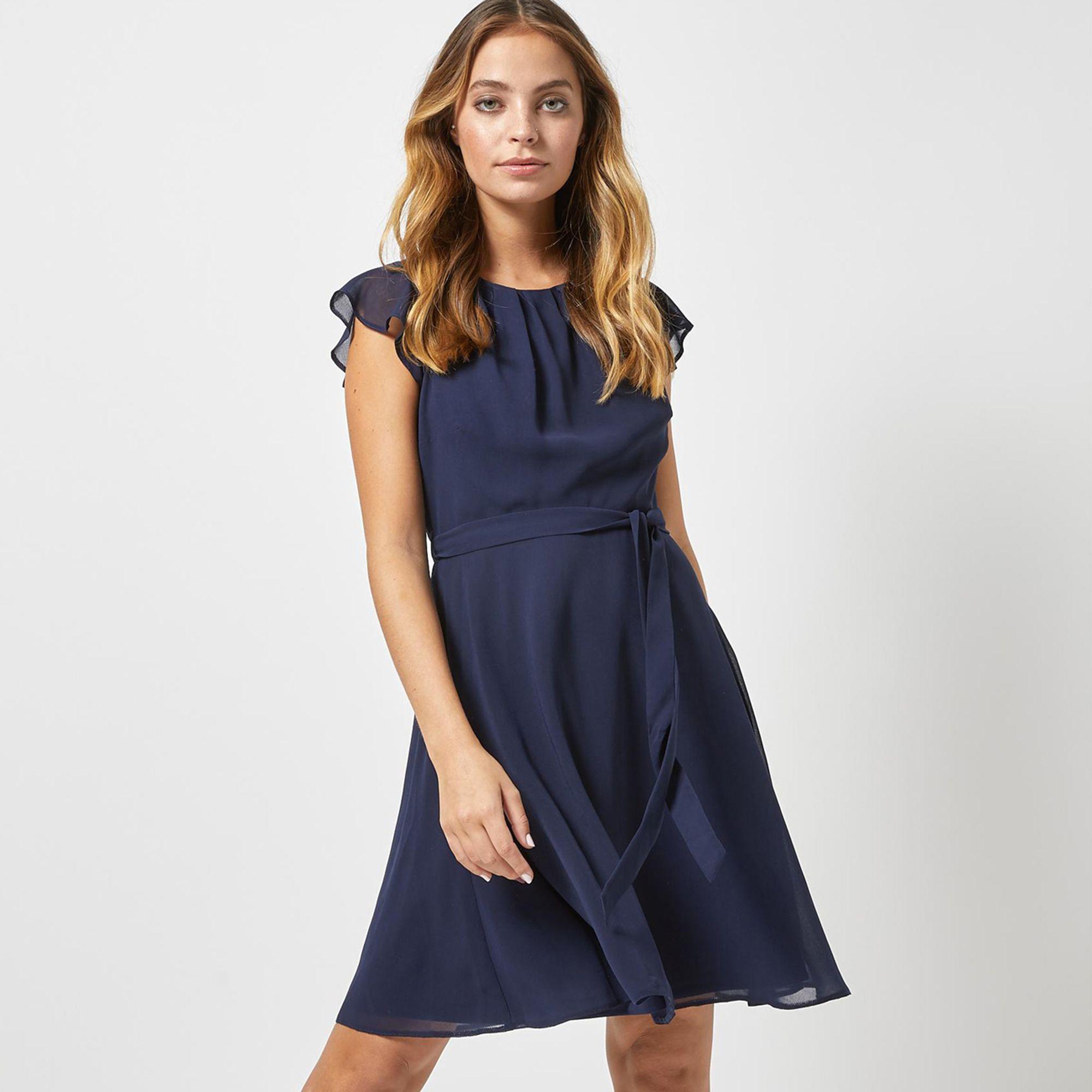 d7fe54e9364 Dorothy Perkins. Women s Blue Billie And Blossom Petite Navy Belted Skater  Dress