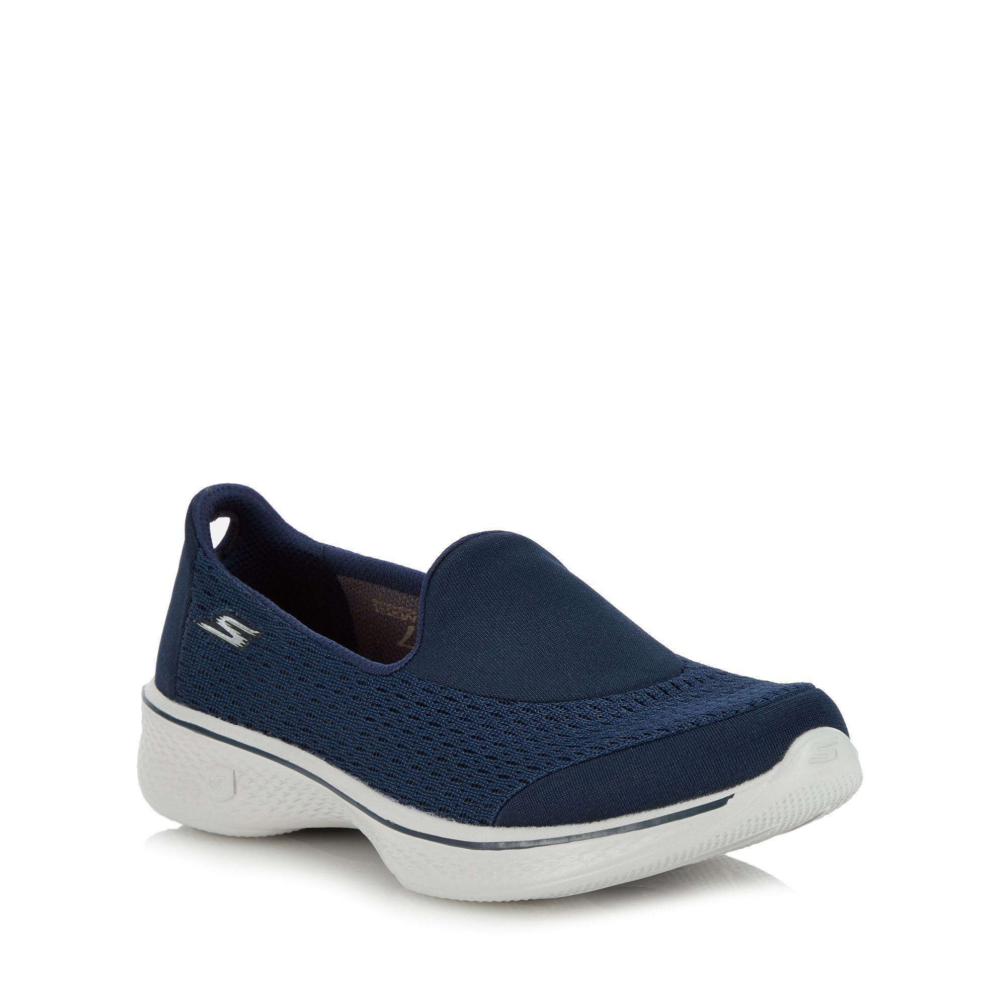 Skechers Navy 'go Walk 4 Pursuit' Slip on Trainers in Blue