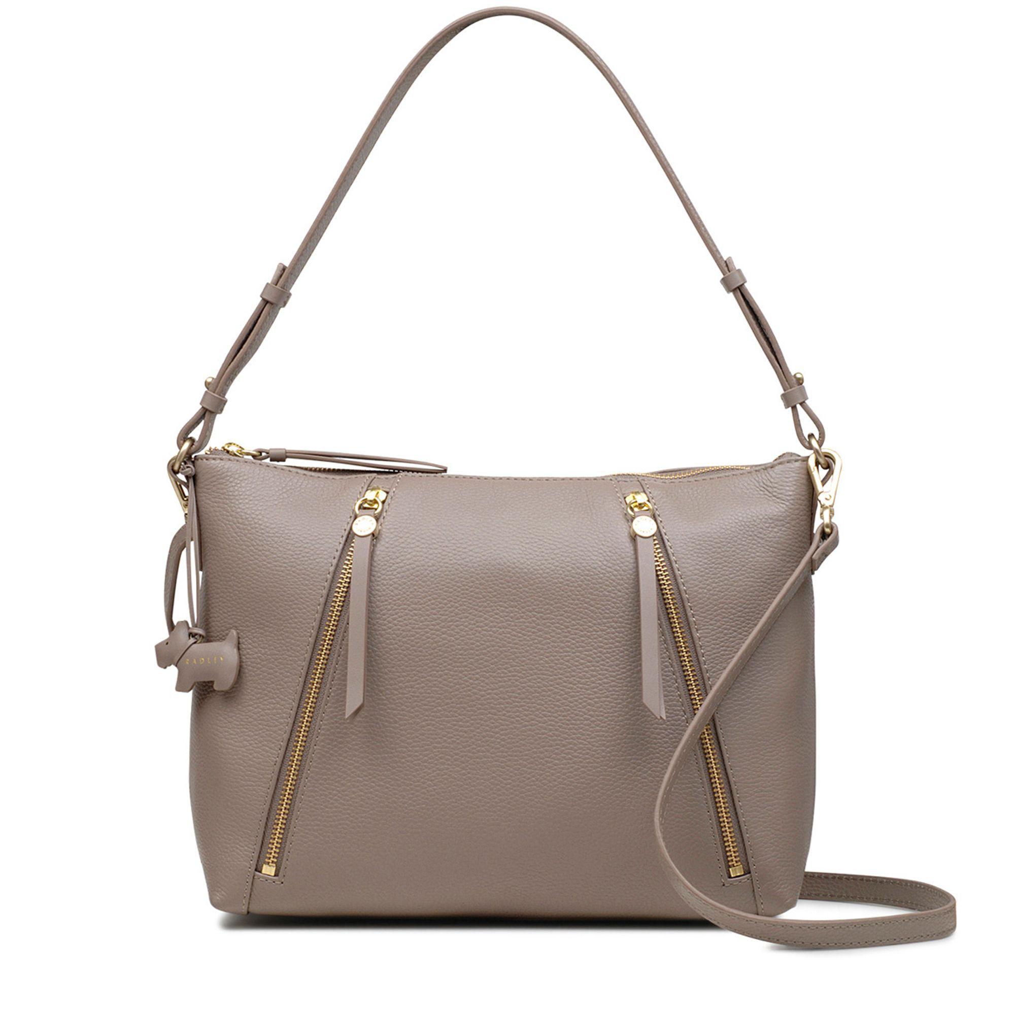 3d24dd4e0846 Radley Taupe Leather  fountain Road  Medium Multiway Shoulder Bag - Lyst