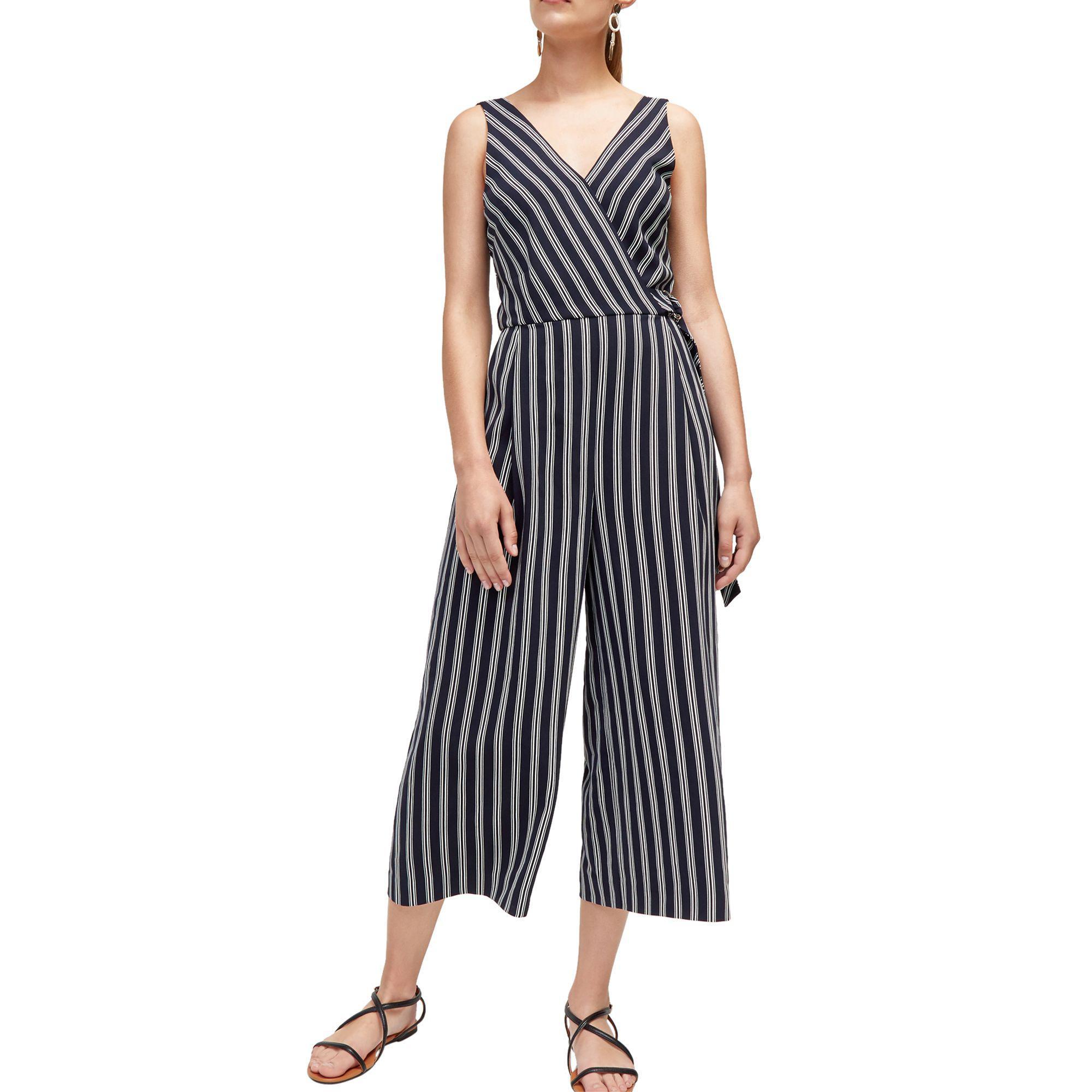 97e1785c372c Warehouse Multicoloured V Neck Stripe Jumpsuit in Black - Lyst