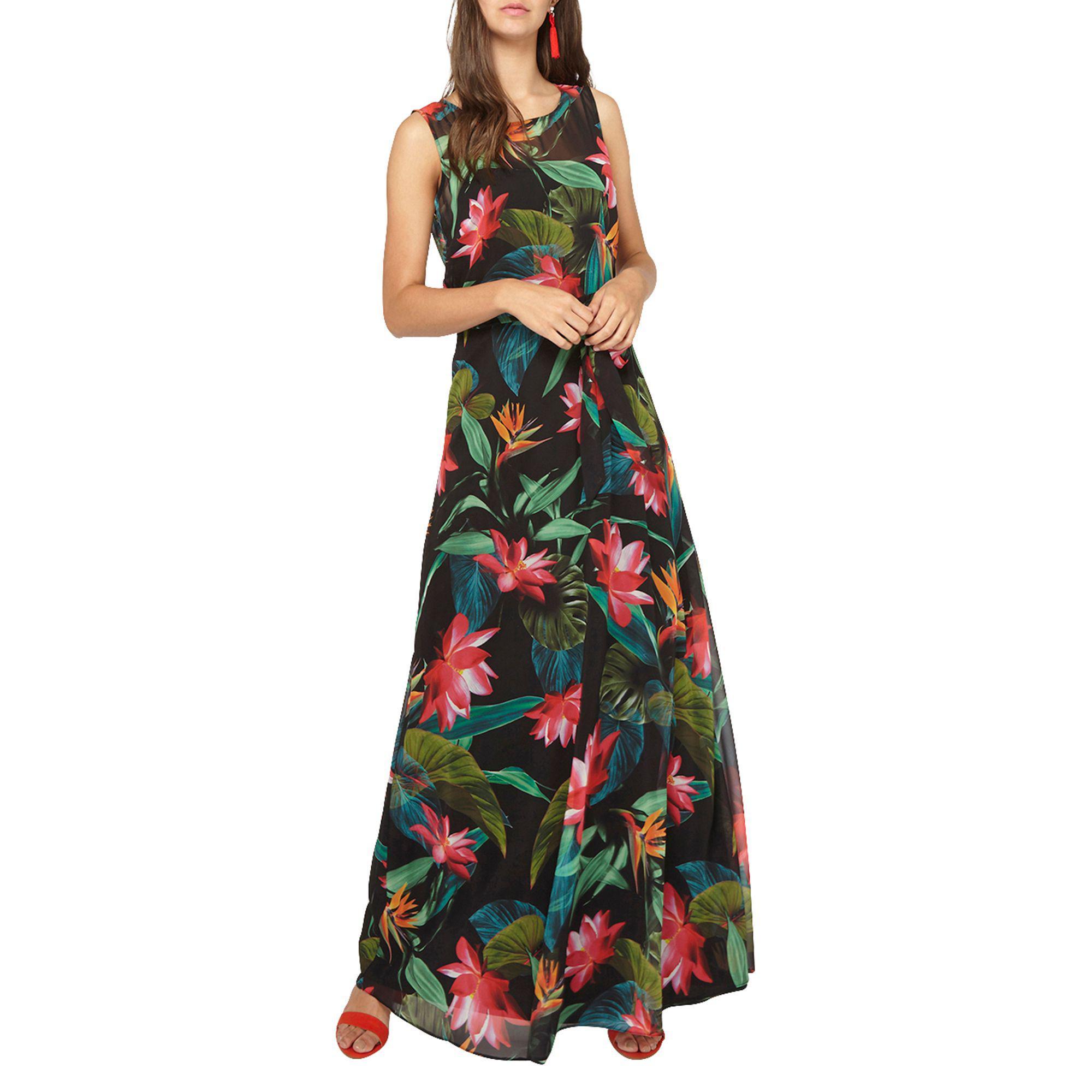 6c0263c249 Dorothy Perkins Billie   Blossom Tall Black Tropical Print Maxi ...