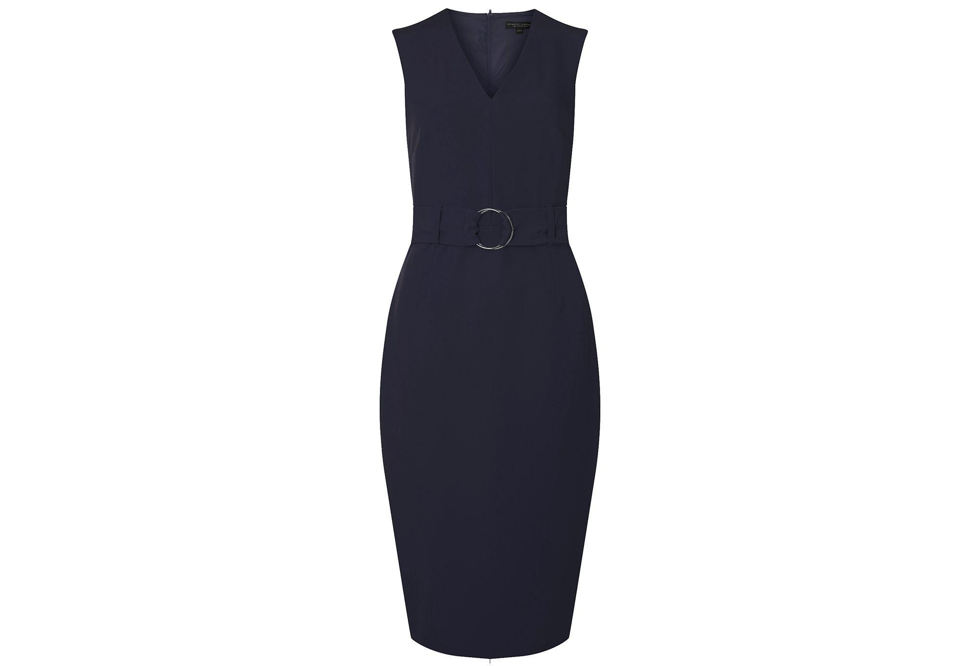 Dorothy Perkins Womens **Tall Navy V-Neck Belted Pencil Dress- With Paypal Prices Online Big Discount cSTgJALtPr