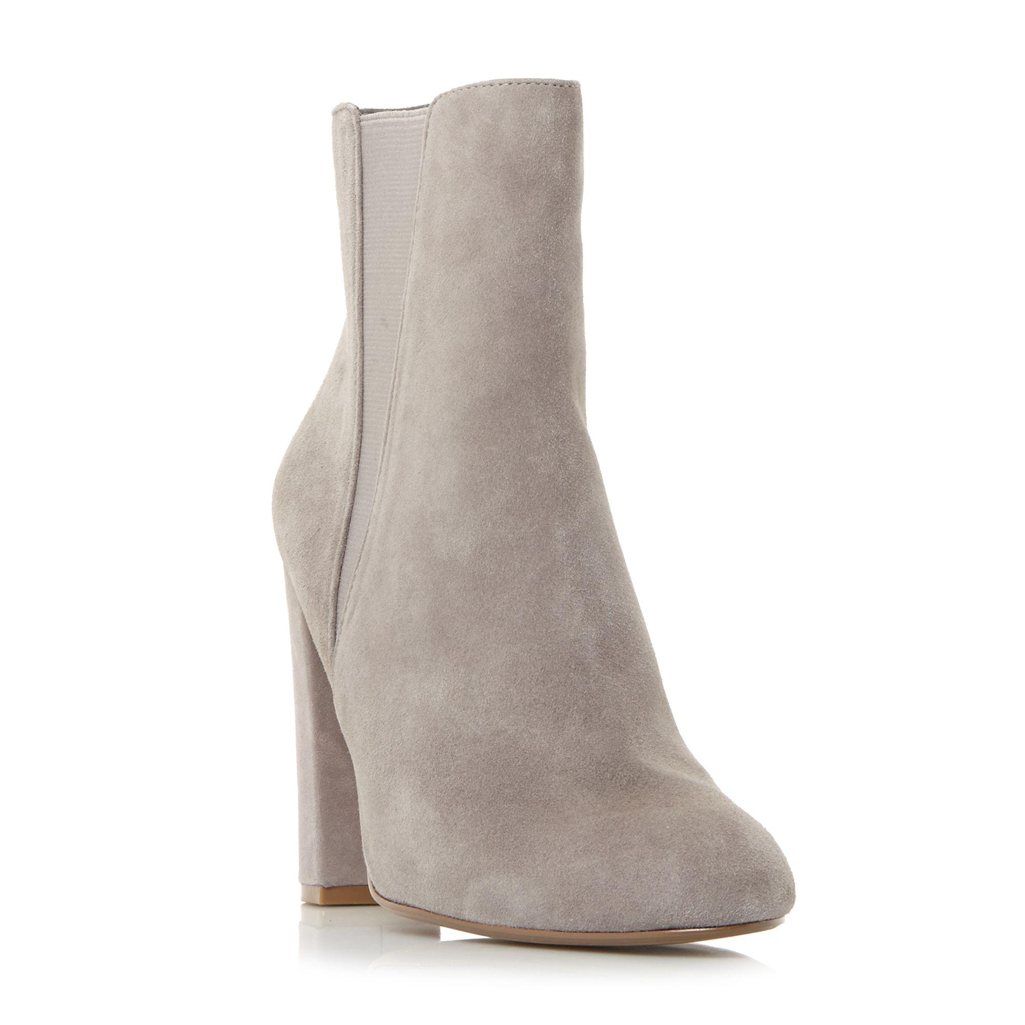 cc0f4755312 Steve Madden Effect Block Heeled Ankle Boots in Gray - Save 40% - Lyst