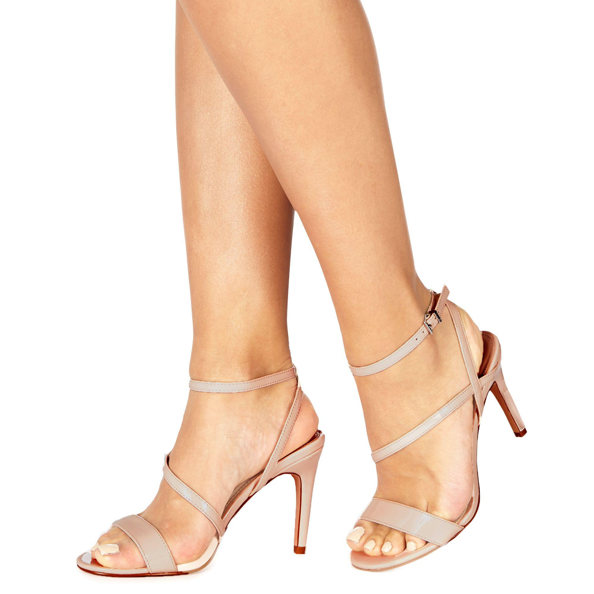 fc19d226e51 Faith Natural  delly  High Heel Wide Fit Ankle Strap Sandals in ...